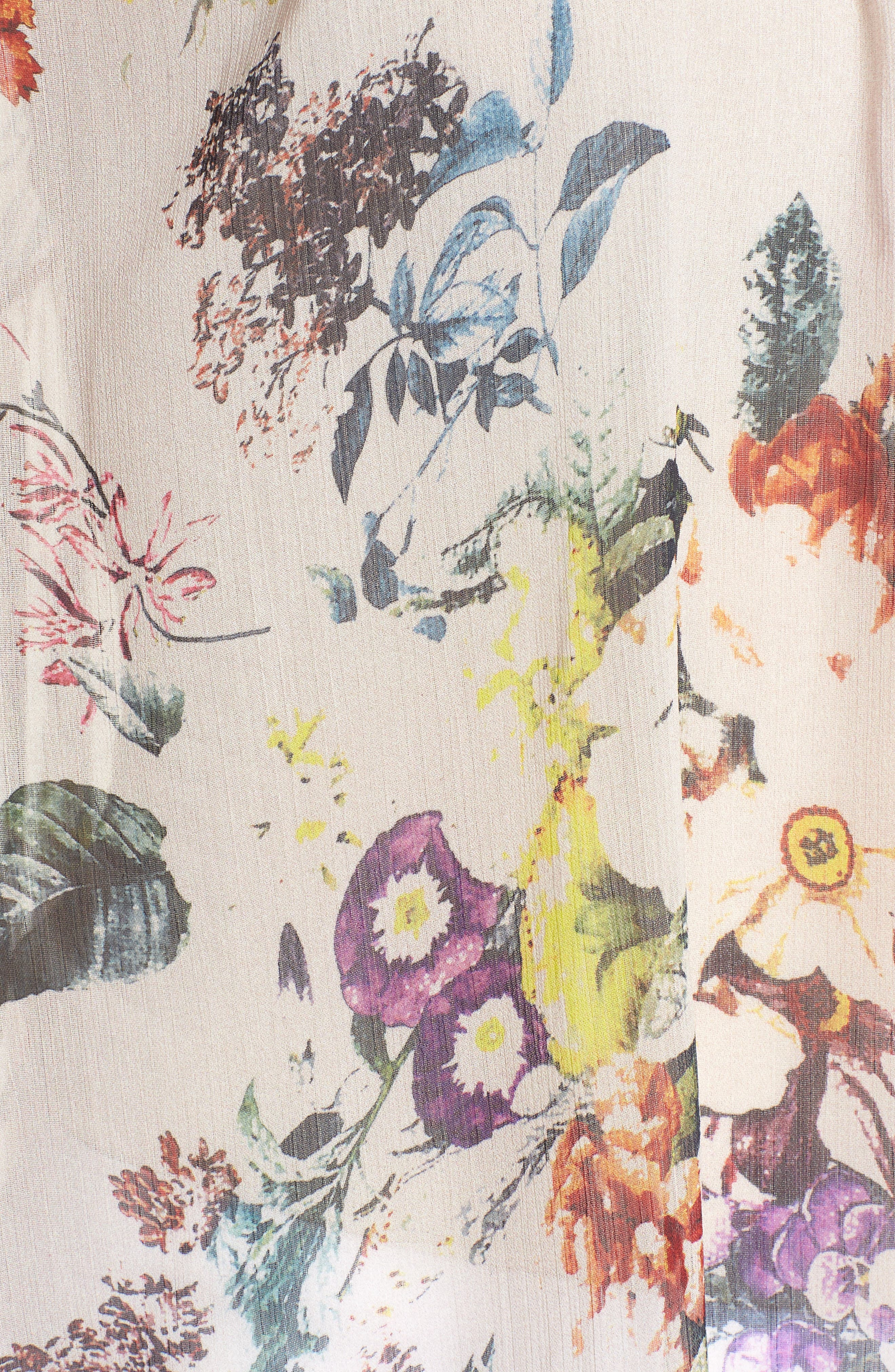 Bishop + Young Floral Choker Blouse,                             Alternate thumbnail 6, color,                             Romance Print