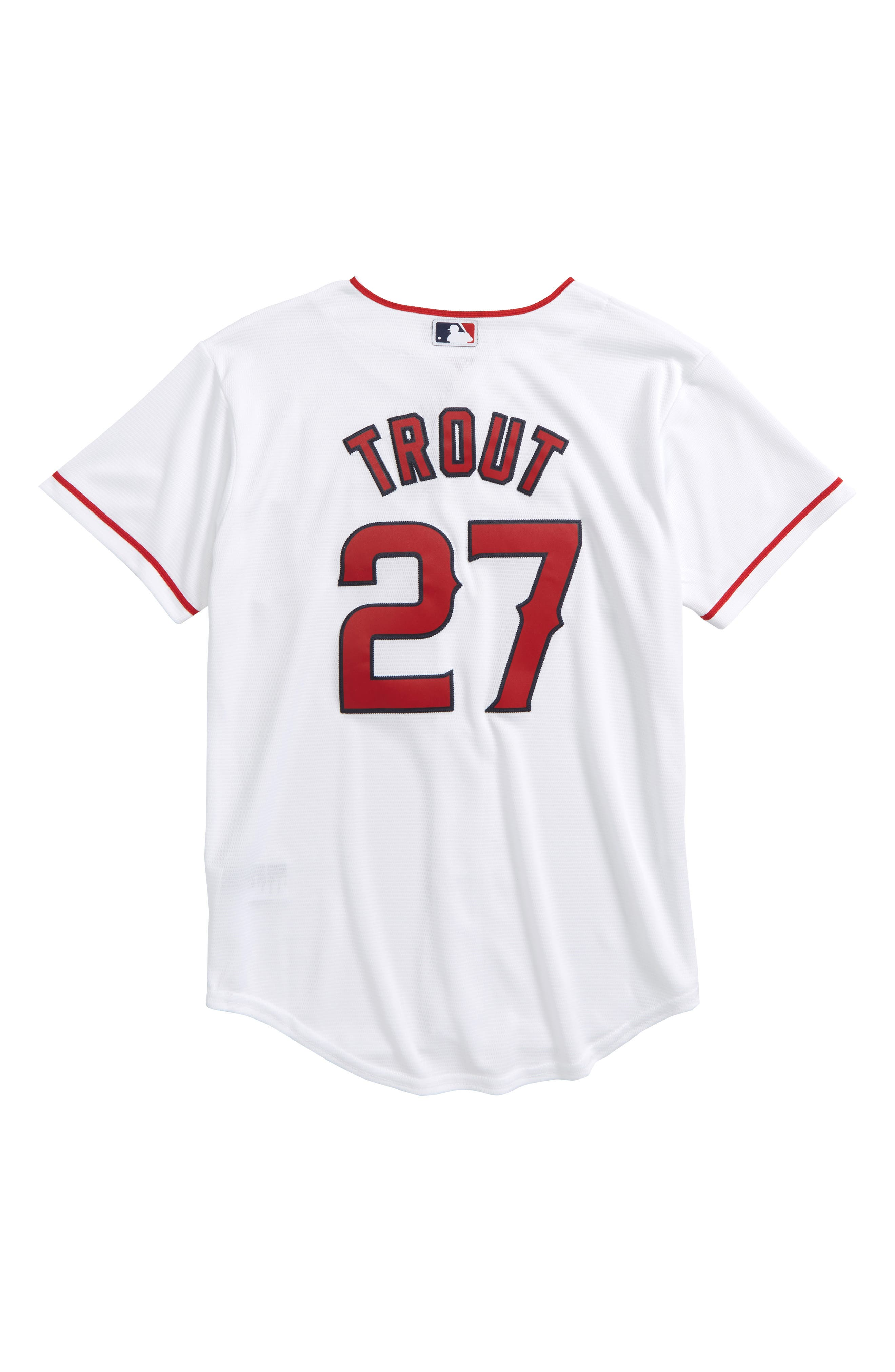 Los Angeles Angels - Mike Trout Baseball Jersey,                             Alternate thumbnail 2, color,                             White