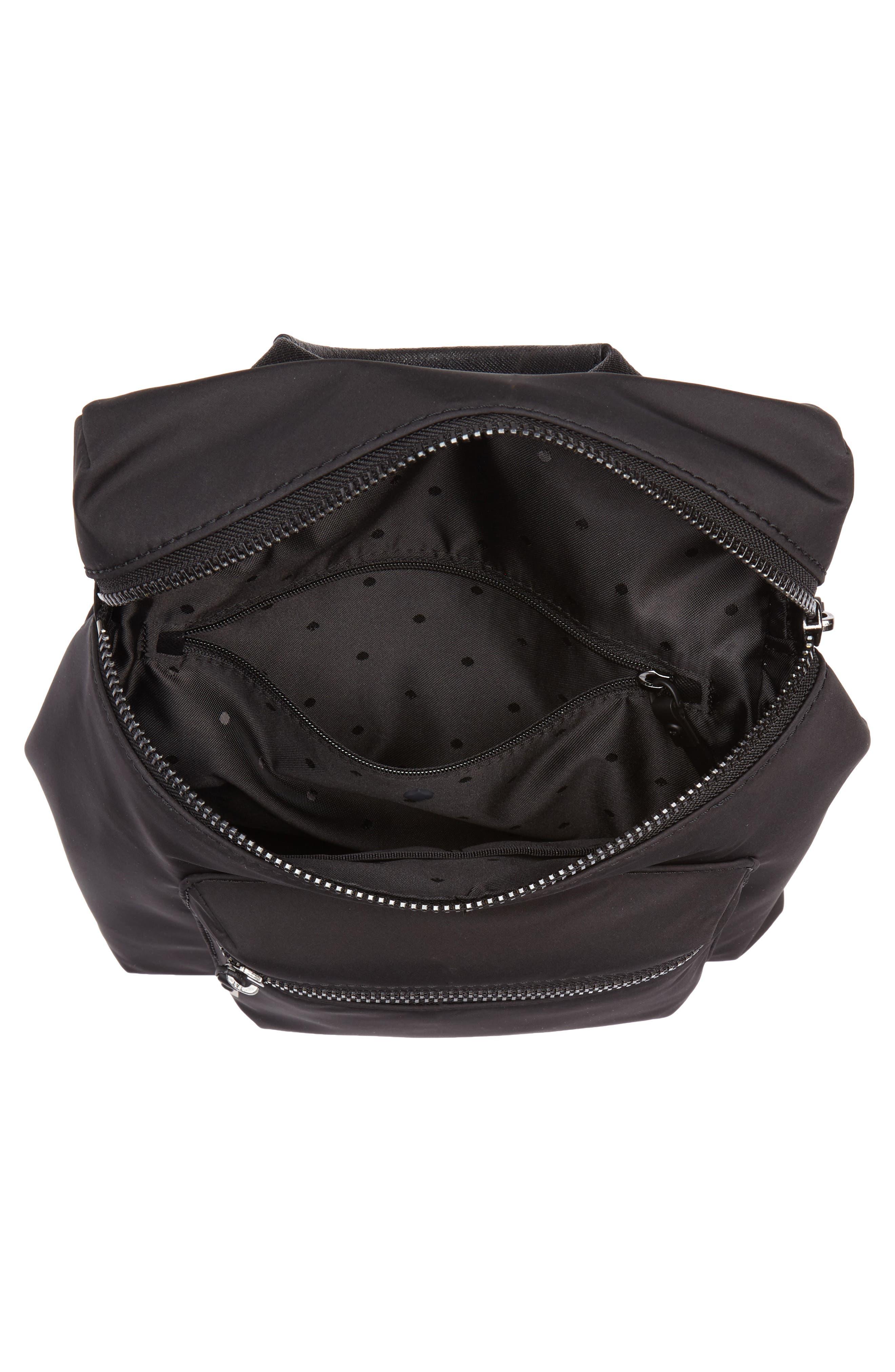 that's the spirit mini nylon convertible backpack,                             Alternate thumbnail 4, color,                             Black