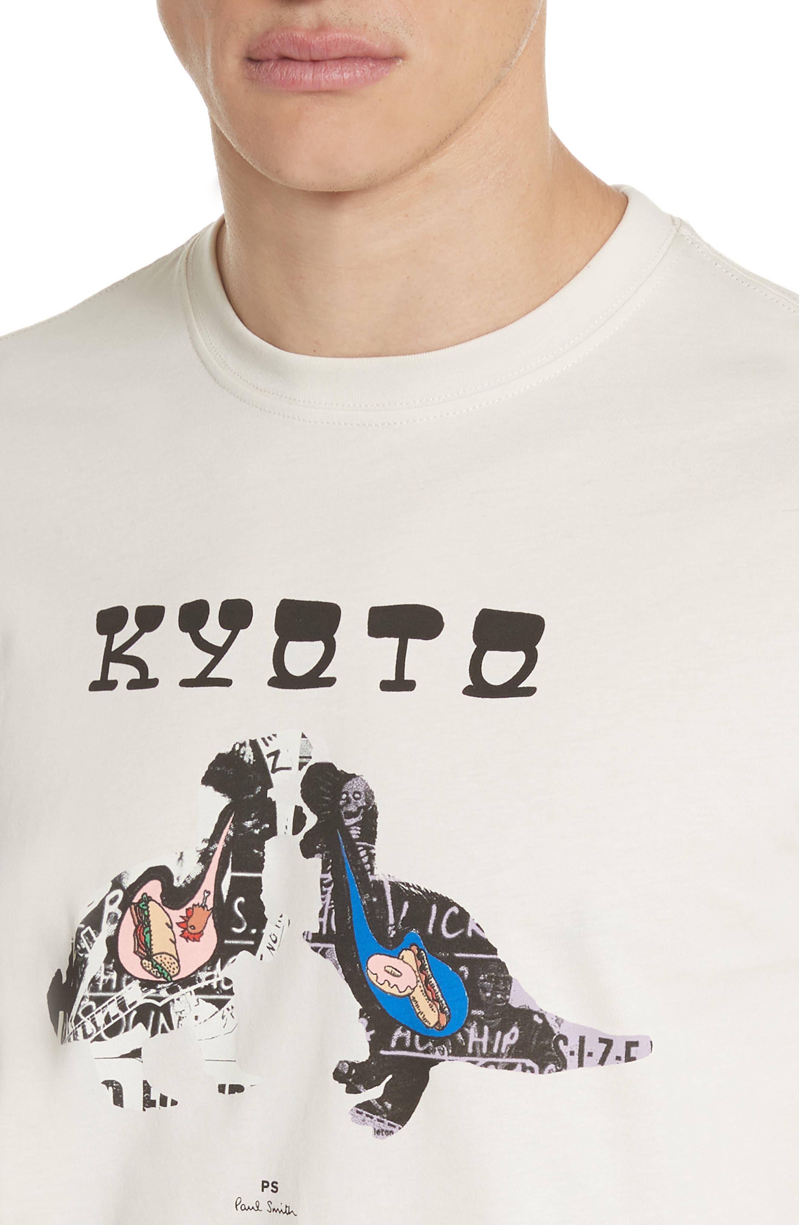 Kyoto Graphic T-Shirt,                             Alternate thumbnail 4, color,                             Natural