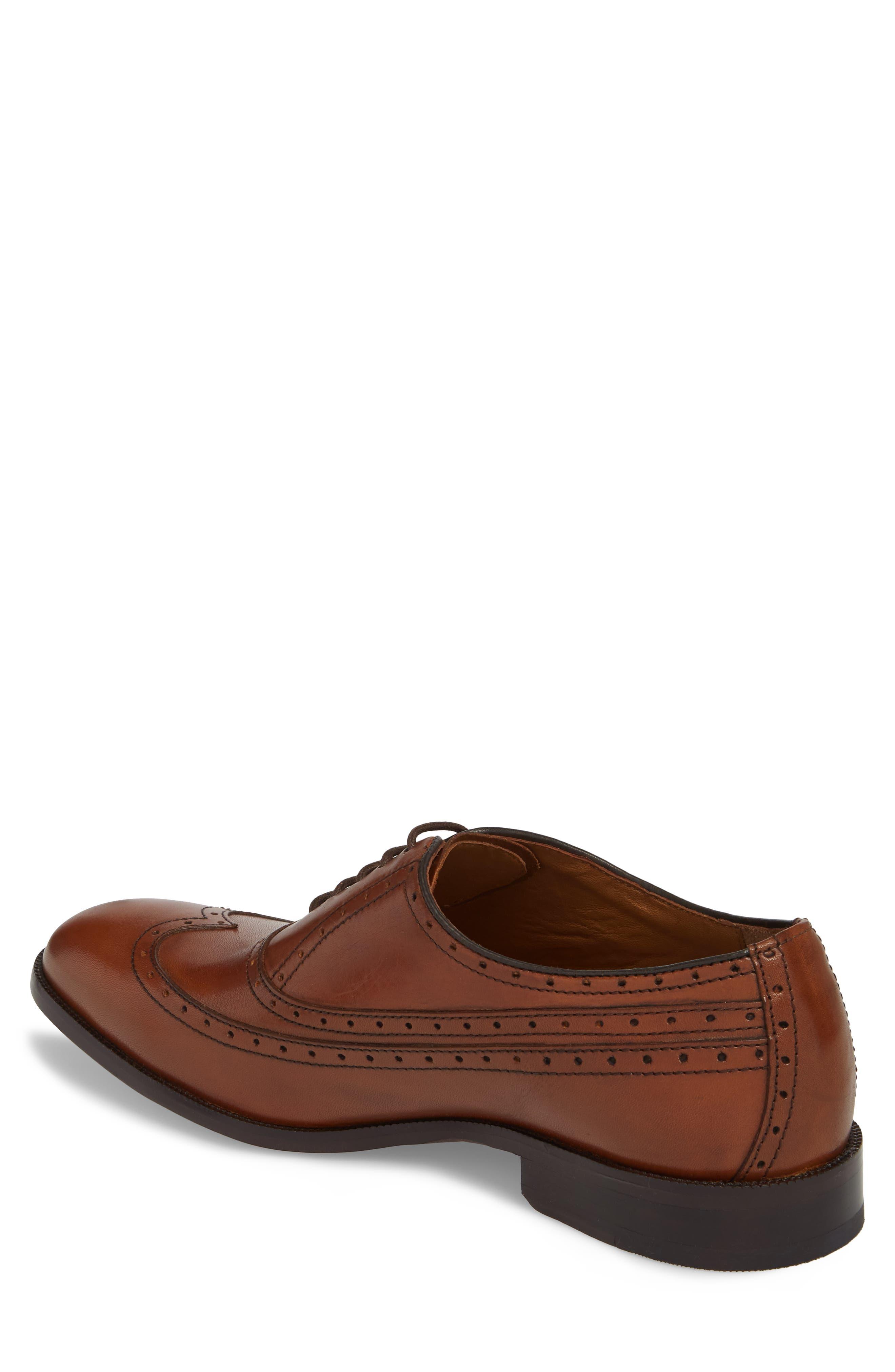 Bradford Wingtip Oxford,                             Alternate thumbnail 2, color,                             Tan Leather