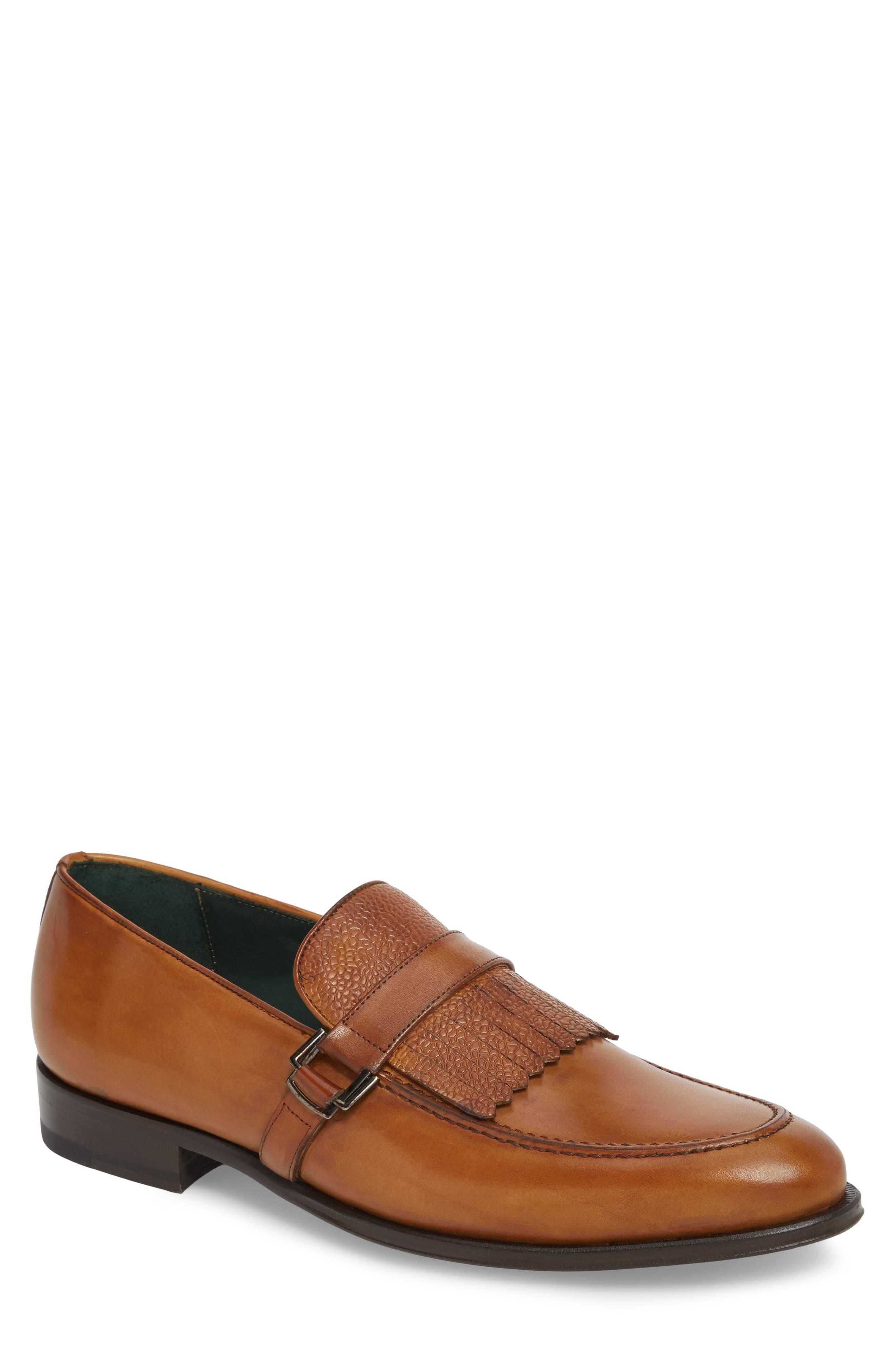 Octavio Kiltie Loafer,                         Main,                         color, Tan Leather