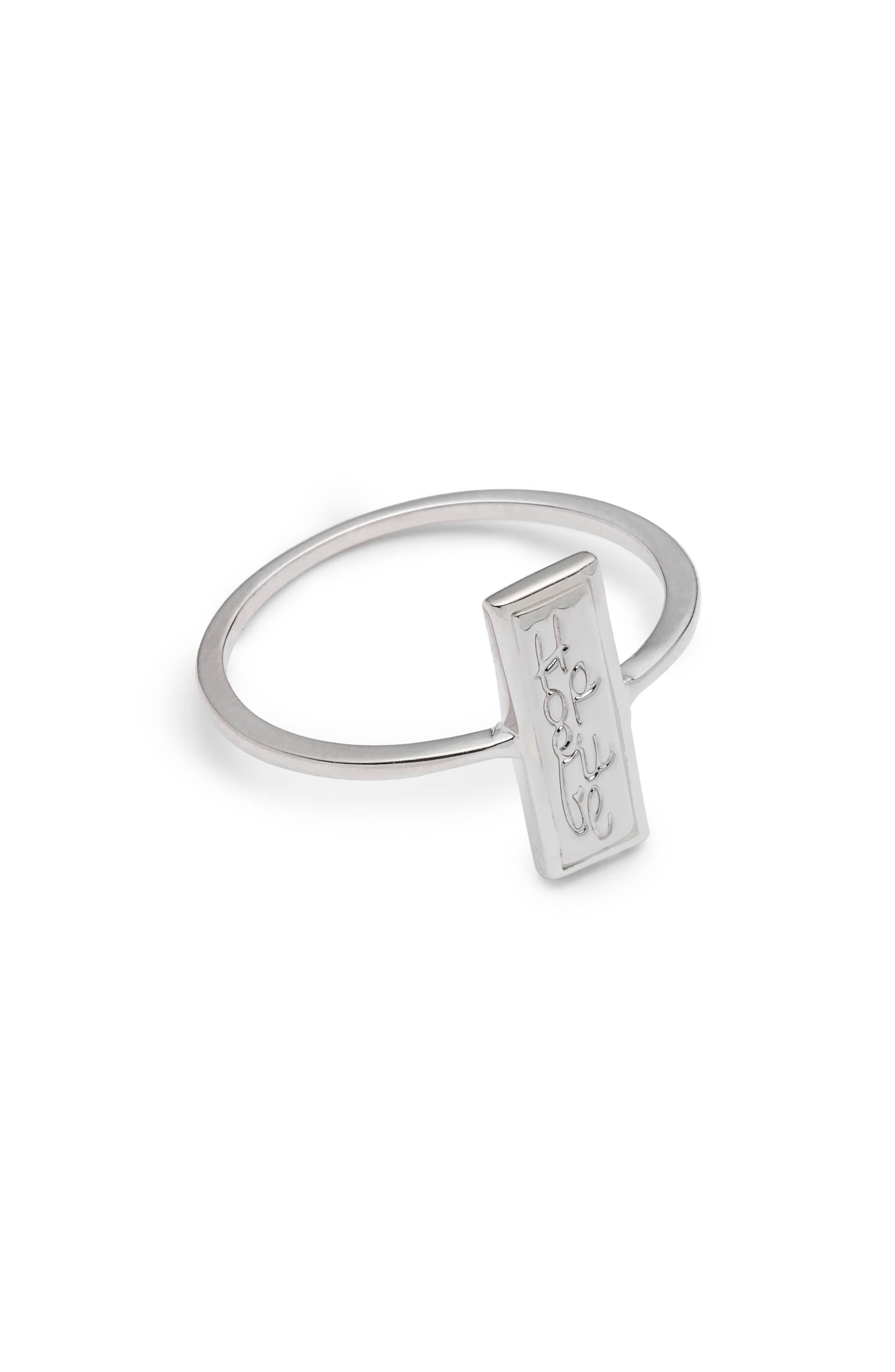Hopeful Ring,                         Main,                         color, Silver
