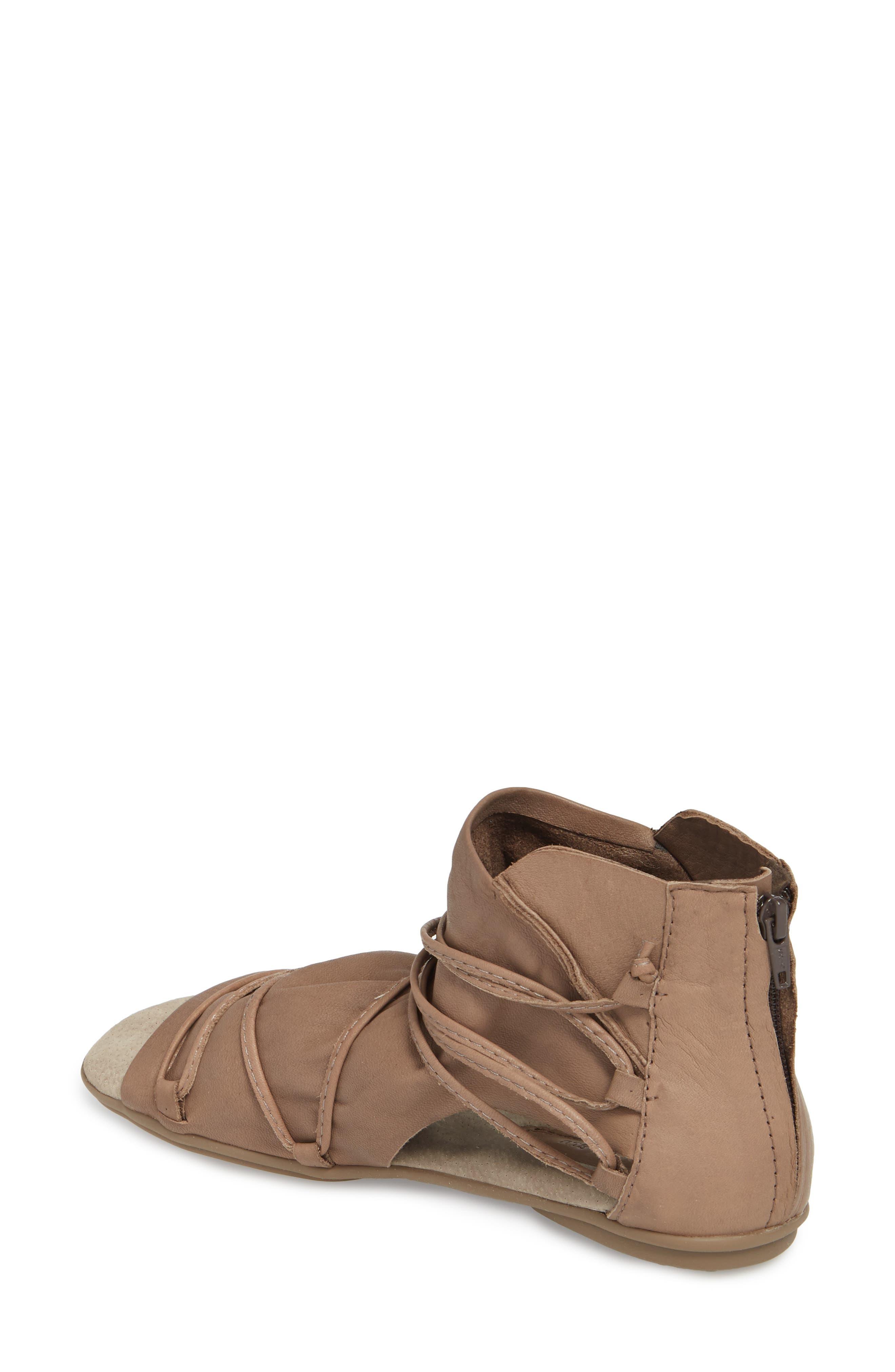 Byron Flat,                             Alternate thumbnail 2, color,                             Khaki Leather