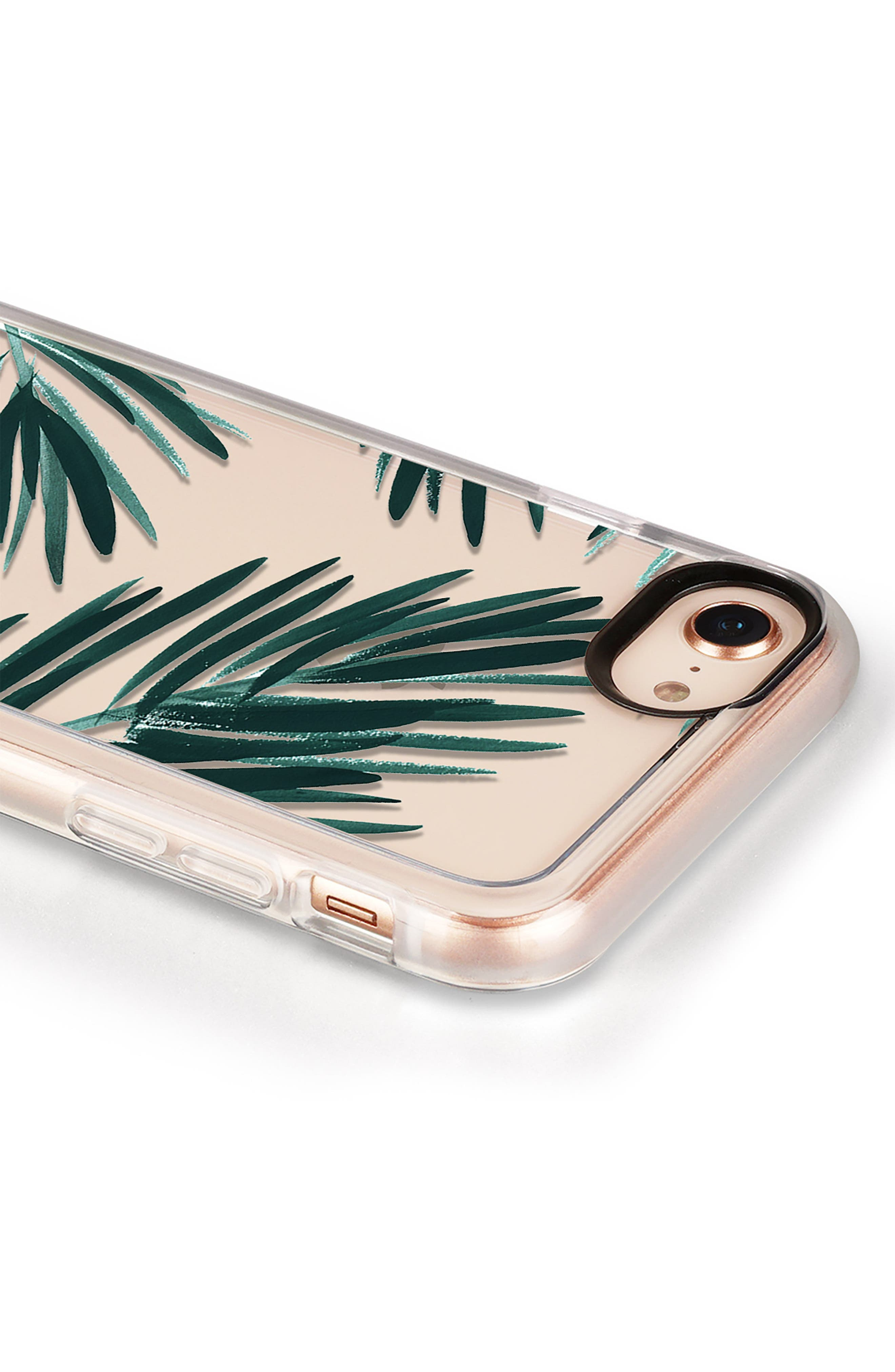 Palm Fronds iPhone 7/8 & 7/8 Plus Case,                             Alternate thumbnail 4, color,                             Green