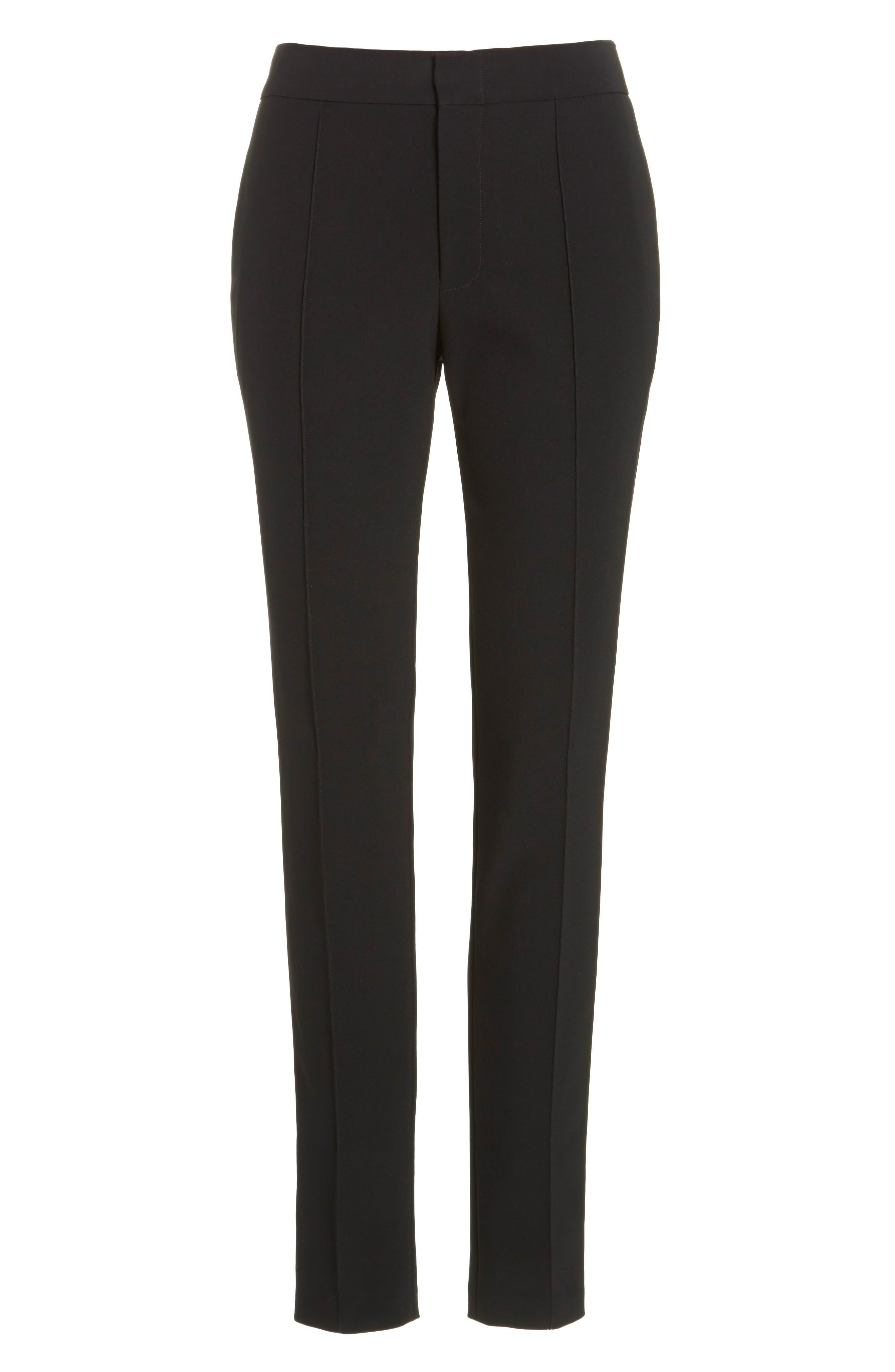 Crop Bi-Stretch Pants,                             Alternate thumbnail 6, color,                             Black