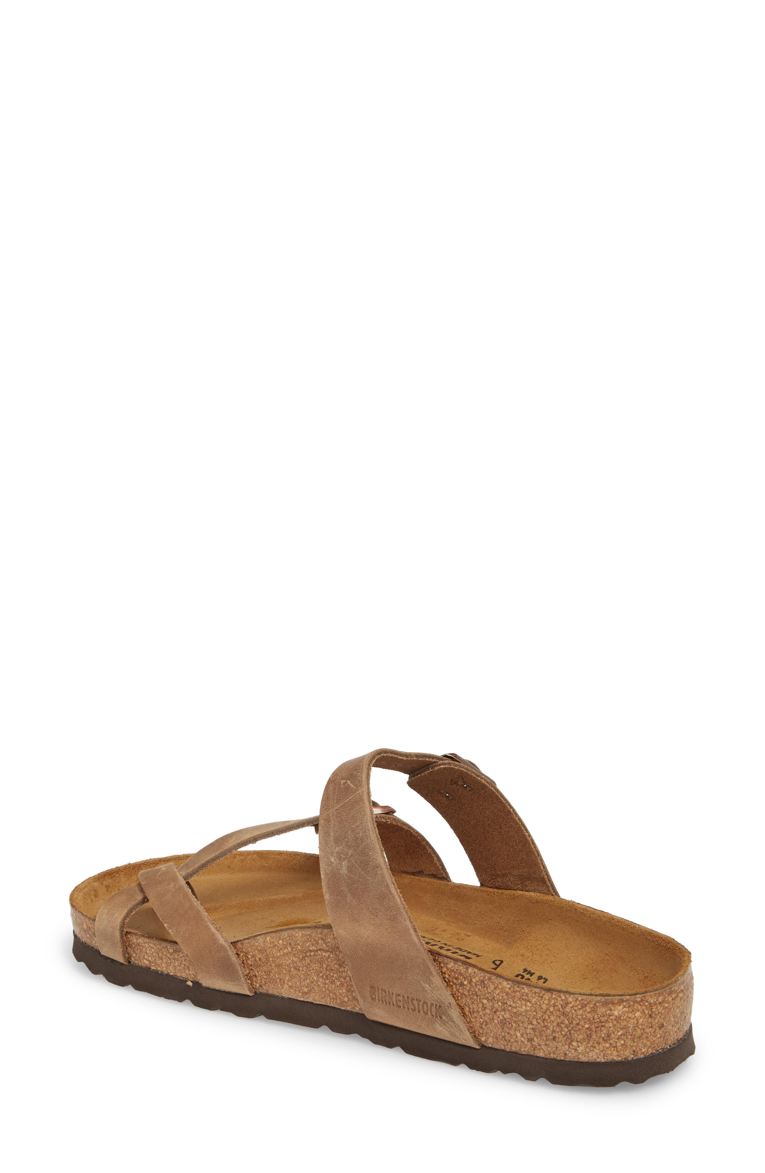 Mayari Slide Sandal,                             Alternate thumbnail 2, color,                             Tobacco Oiled Leather