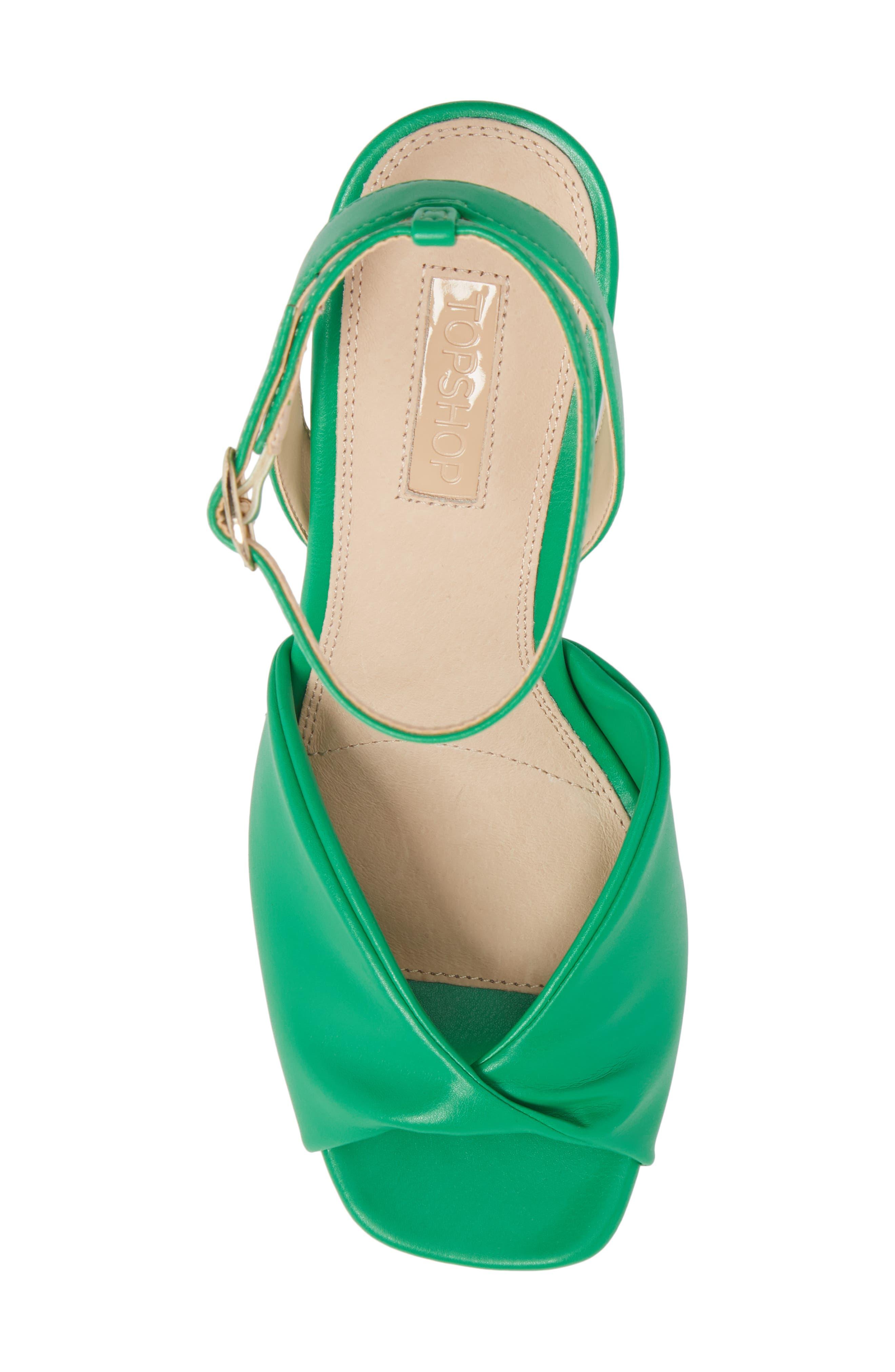 Raven Skinny Heel Sandal,                             Alternate thumbnail 5, color,                             Green
