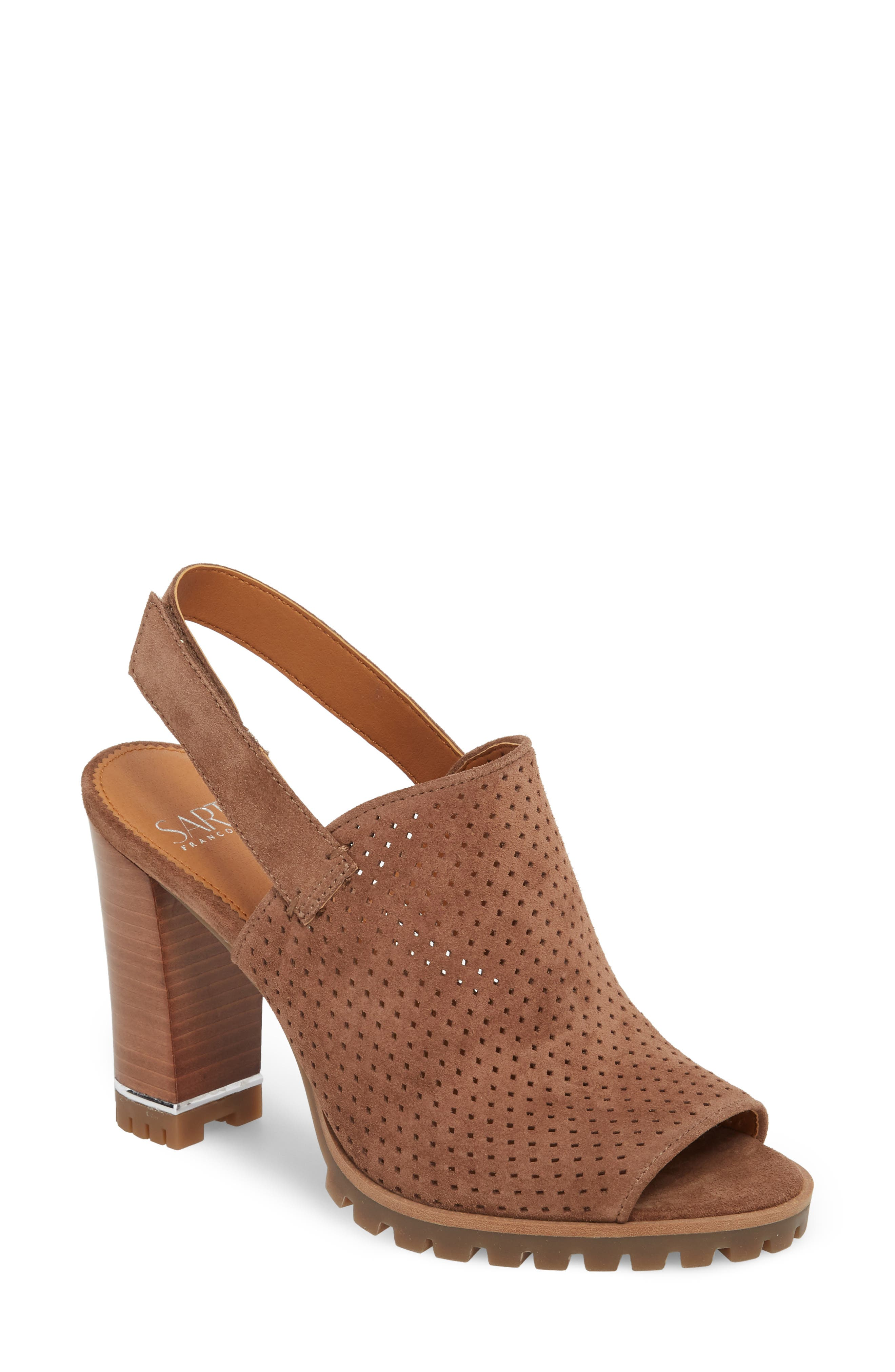 Analise Sandal,                             Main thumbnail 1, color,                             Toffee Suede