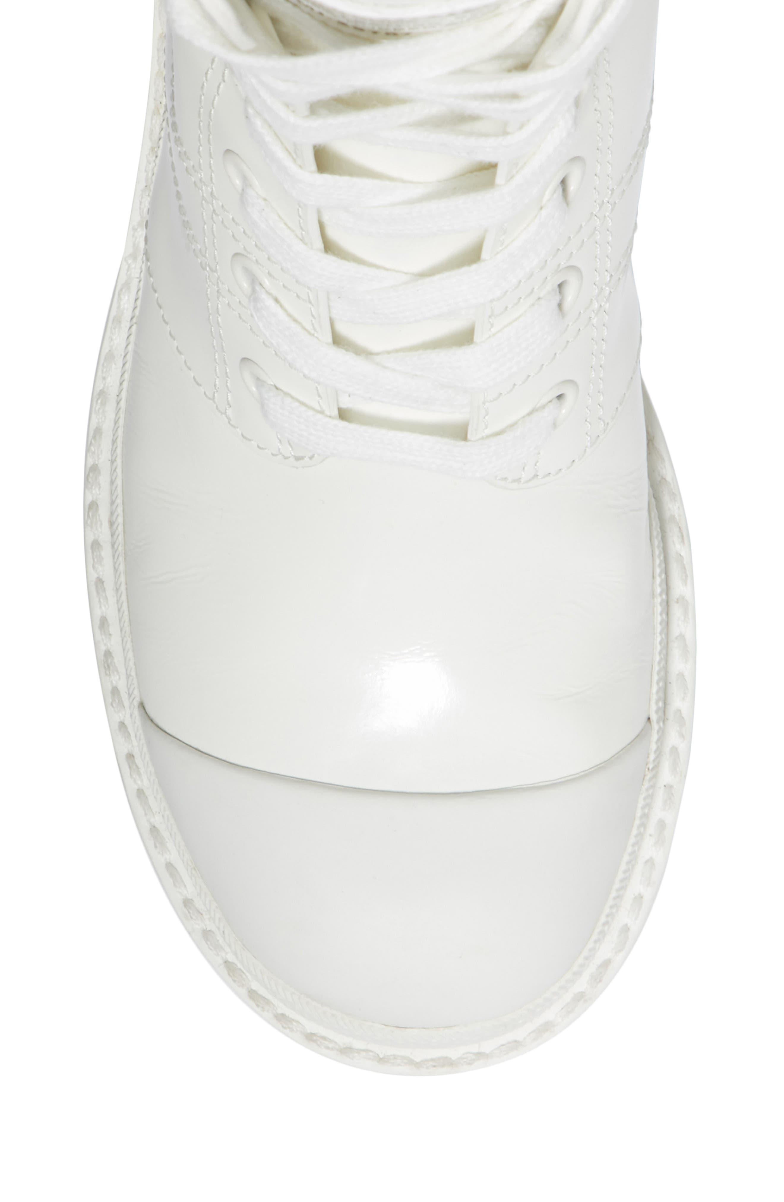 Bristol Lace-Up Boot,                             Alternate thumbnail 4, color,                             White