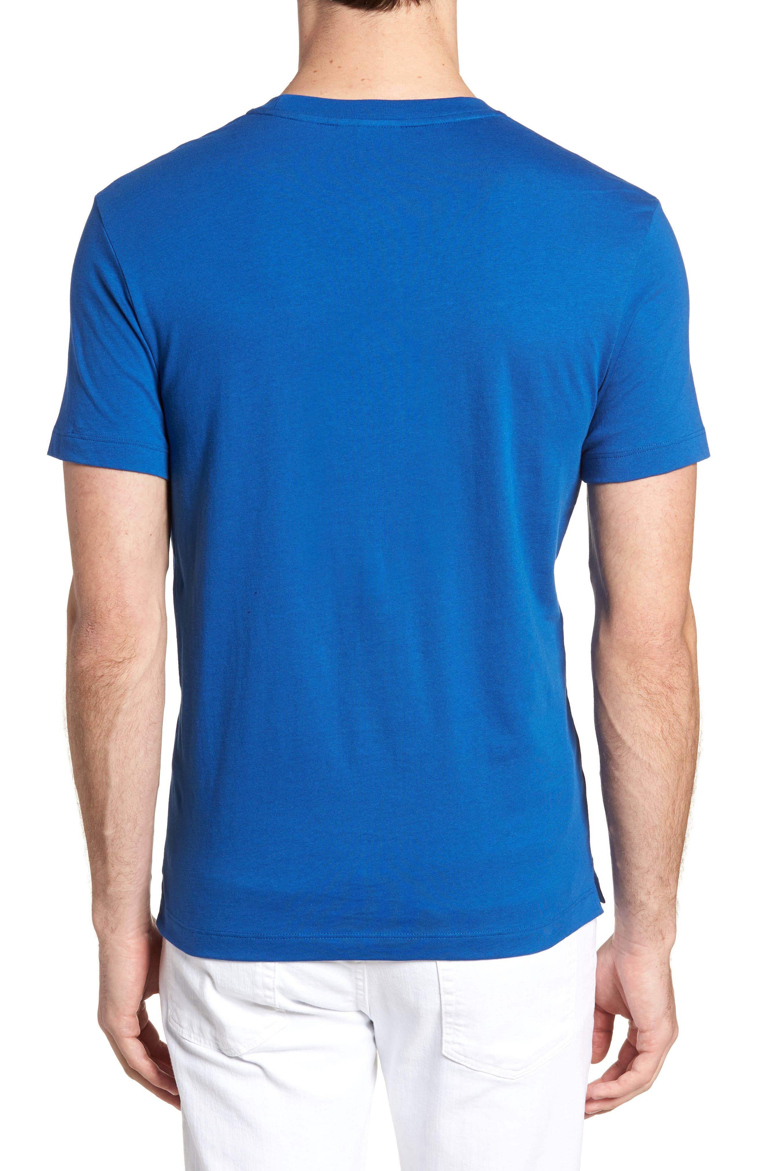 Crewneck T-Shirt,                             Alternate thumbnail 2, color,                             Electric/ Marino
