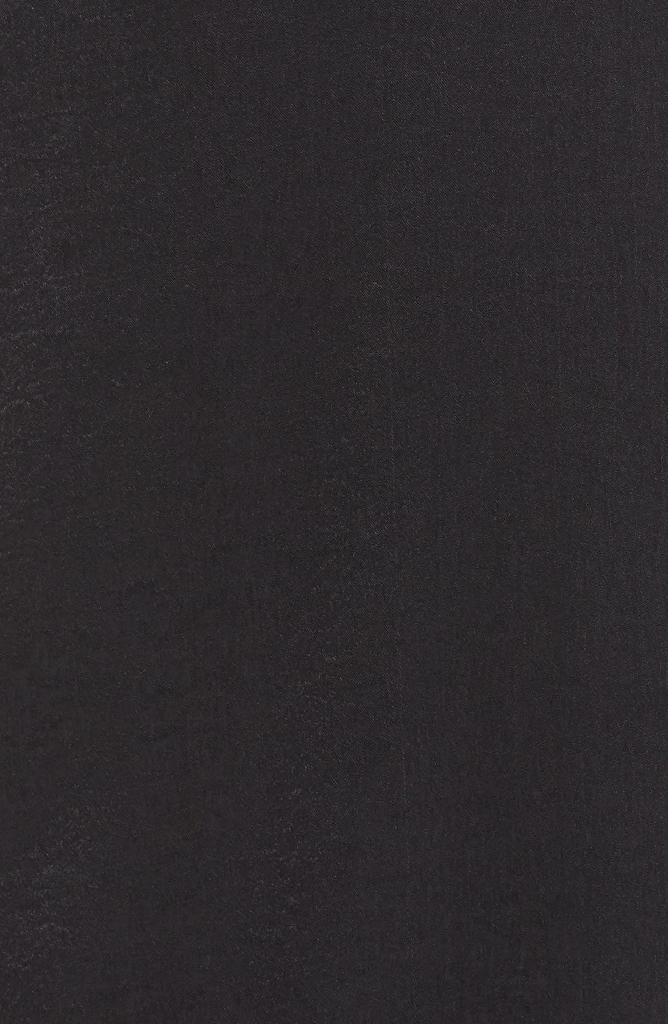 Winslet Gown,                             Alternate thumbnail 6, color,                             Black Sheen