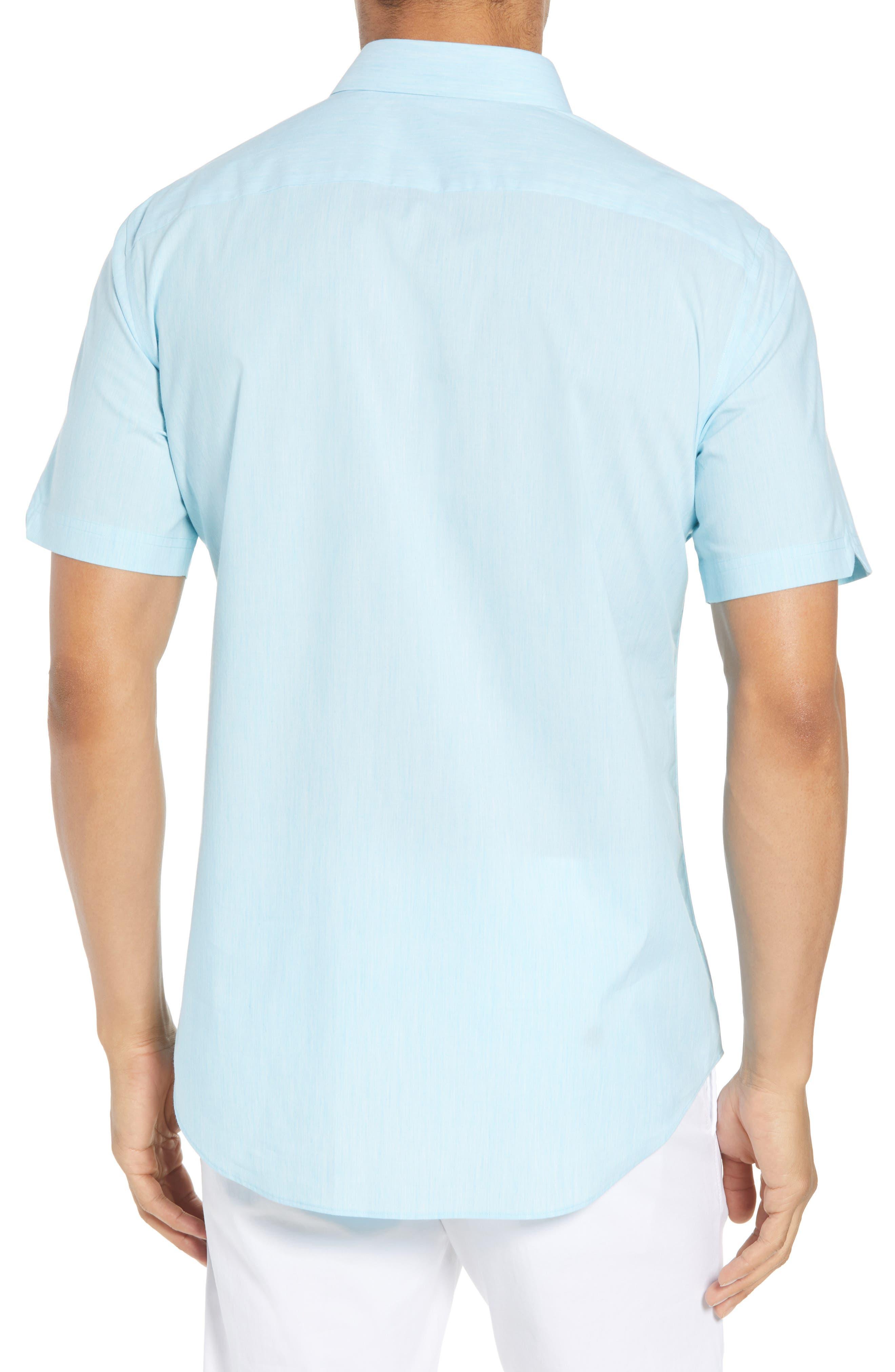 Baumann Slim Fit Sport Shirt,                             Alternate thumbnail 2, color,                             Aqua