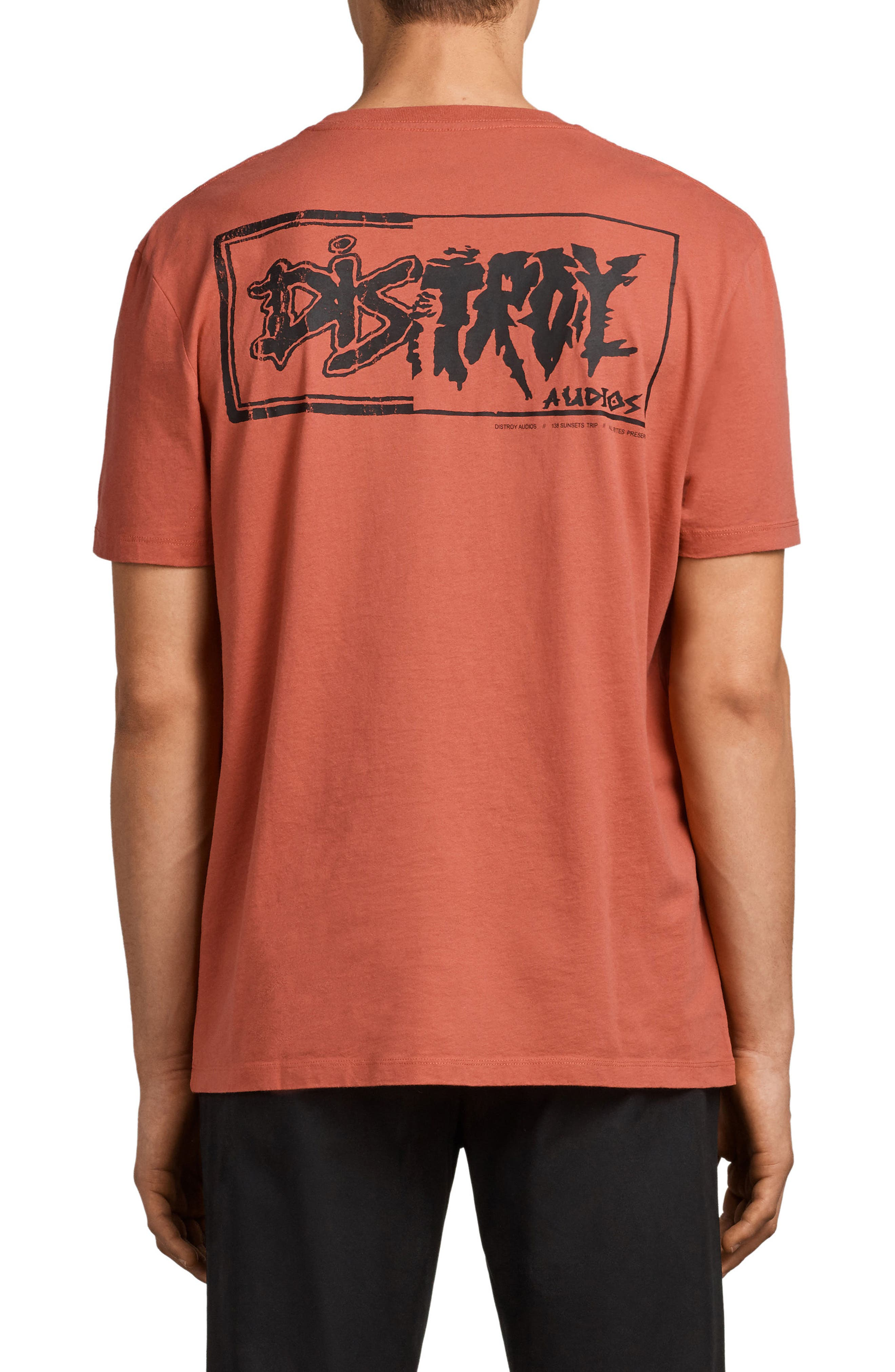 Distroy Graphic T-Shirt,                             Alternate thumbnail 2, color,                             Block Red/ Black