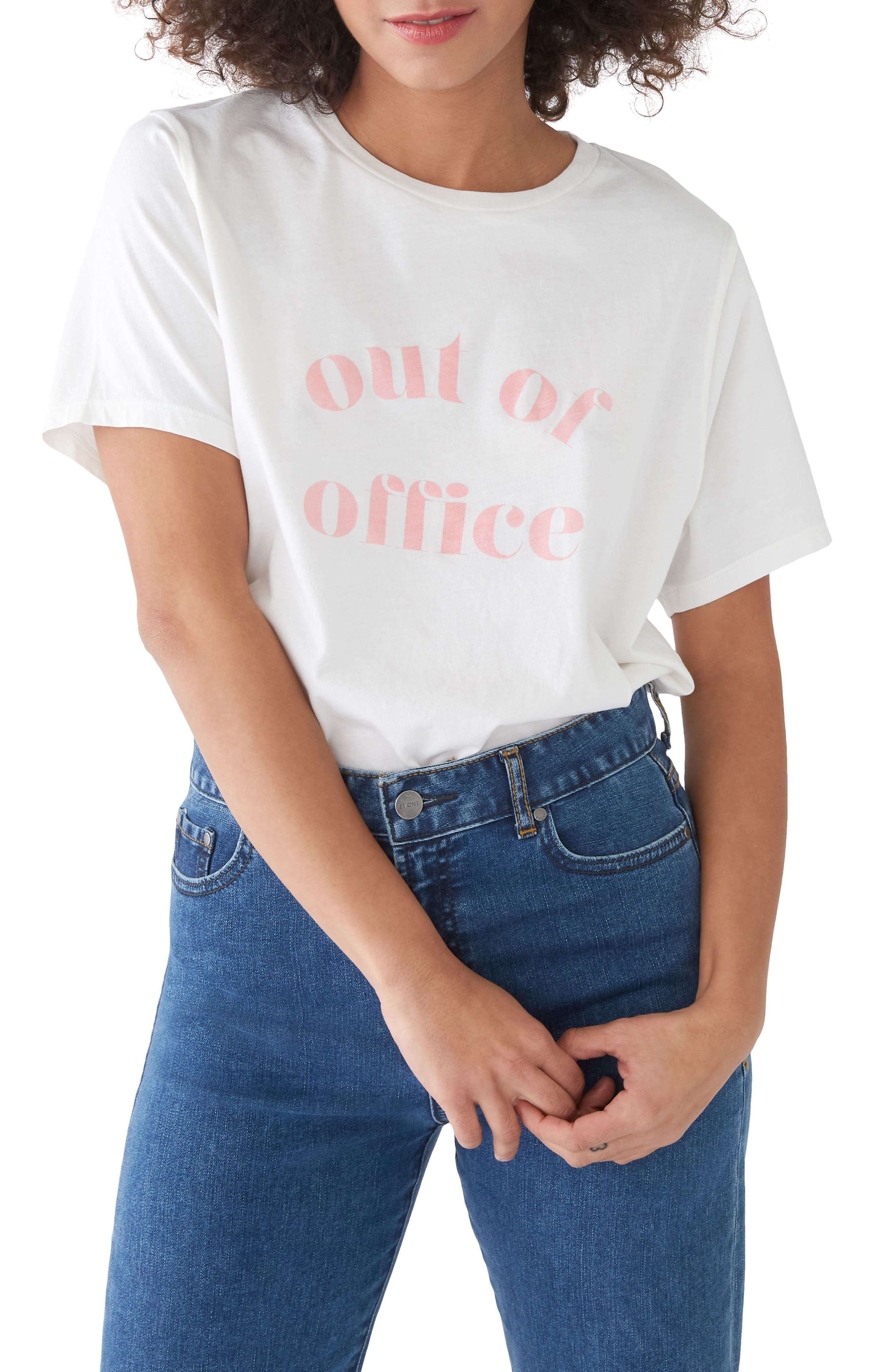 Out of Office Classic Tee,                             Main thumbnail 1, color,                             Ivory