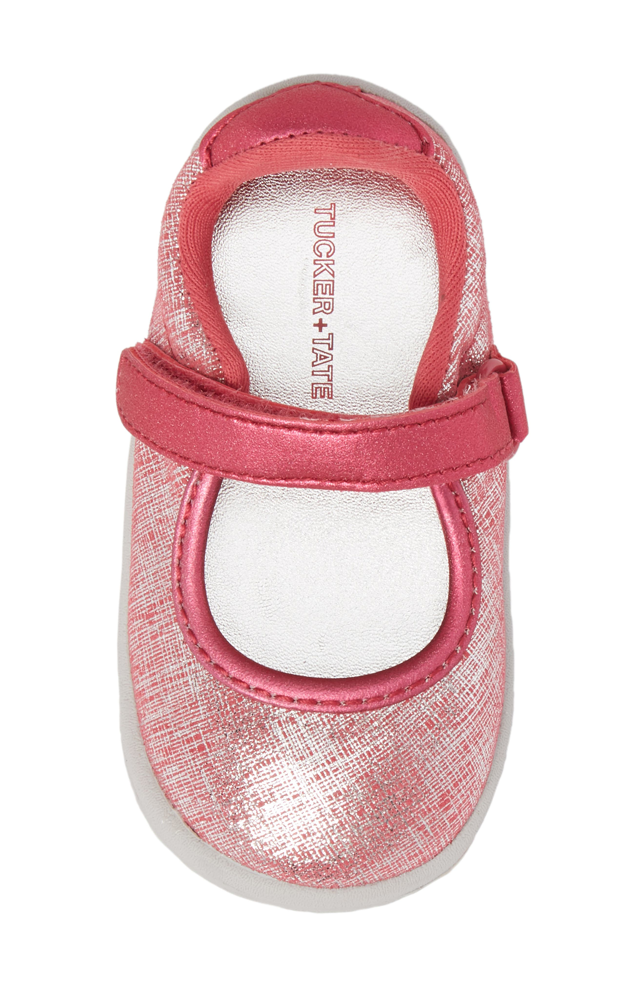 Nora Metallic Mary Jane Sneaker,                             Alternate thumbnail 5, color,                             Pink Shimmer Leather