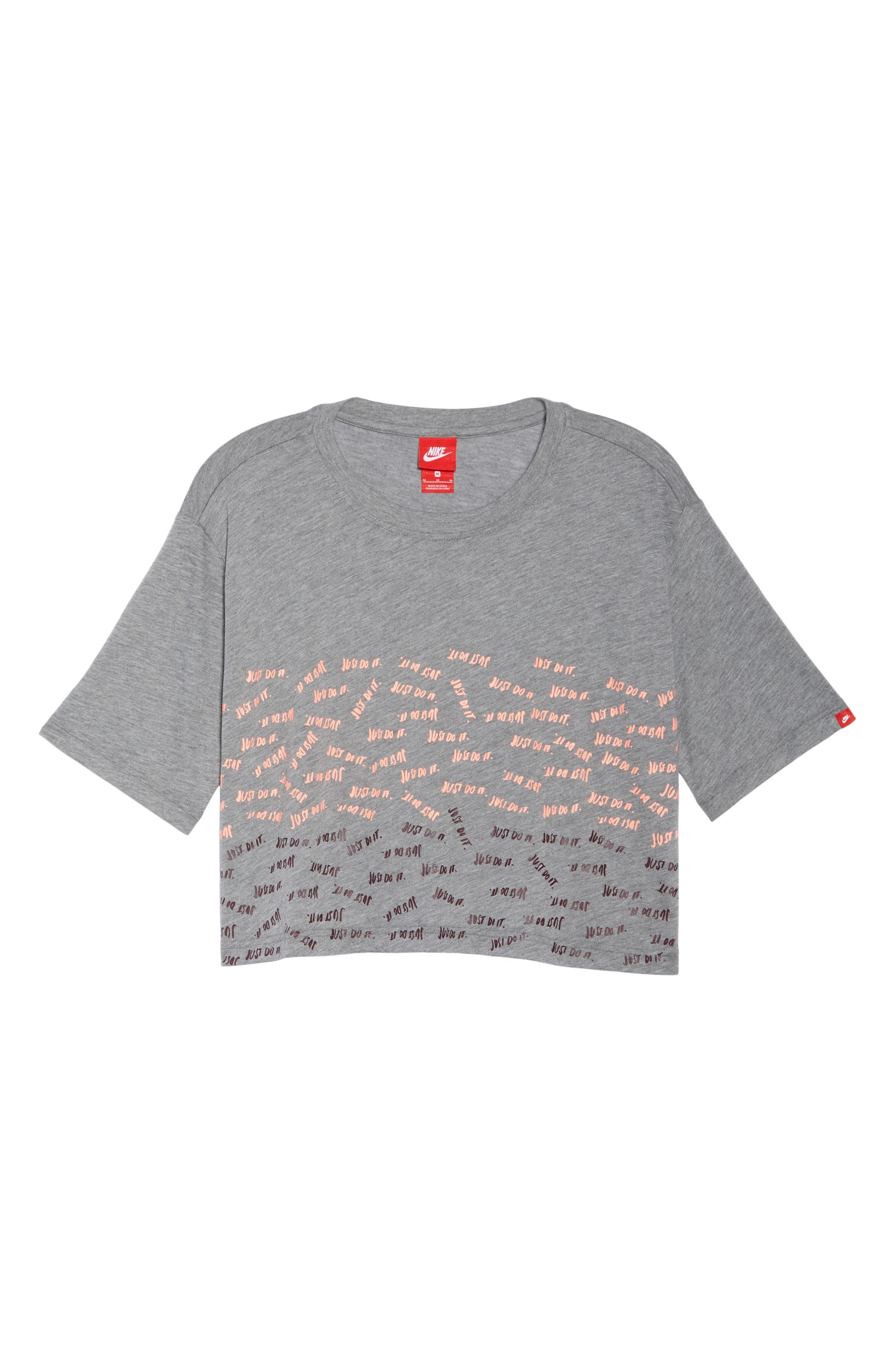 Sportswear Just Do It Tee,                             Alternate thumbnail 7, color,                             Carbon Heather
