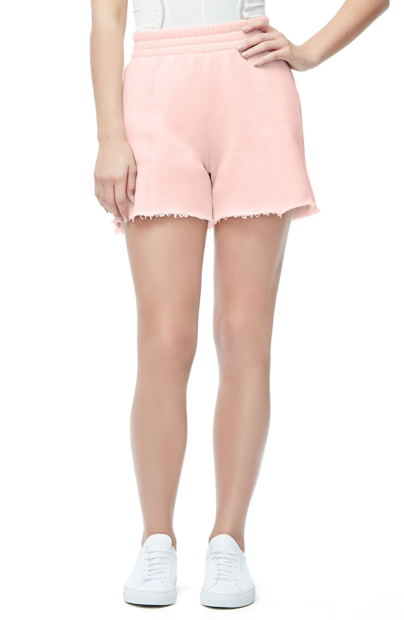 Main Image - Good American Wide Leg Sweat Shorts (Regular & Plus Size)