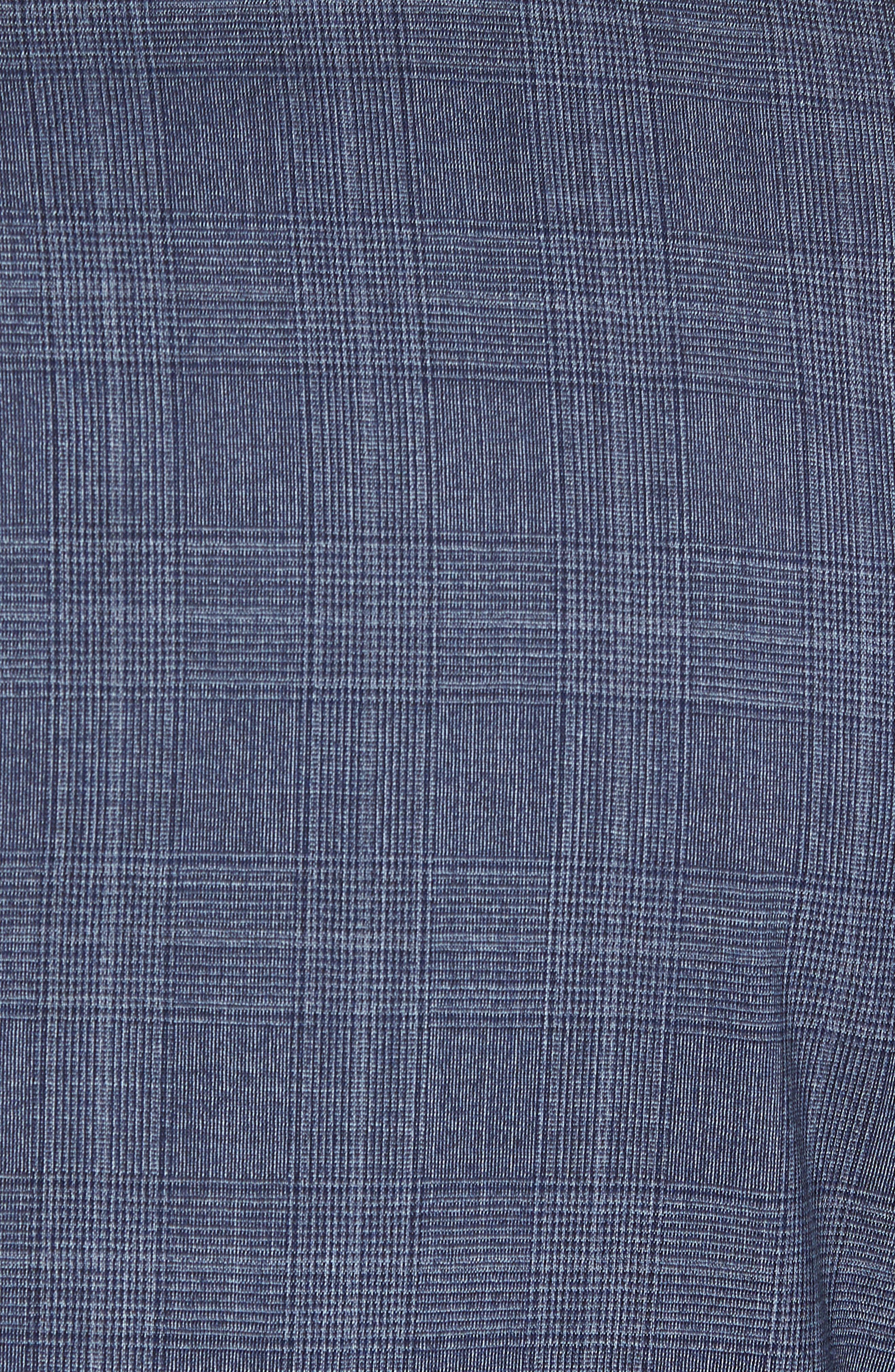 Classic B Fit Plaid Wool Suit,                             Alternate thumbnail 6, color,                             Blue