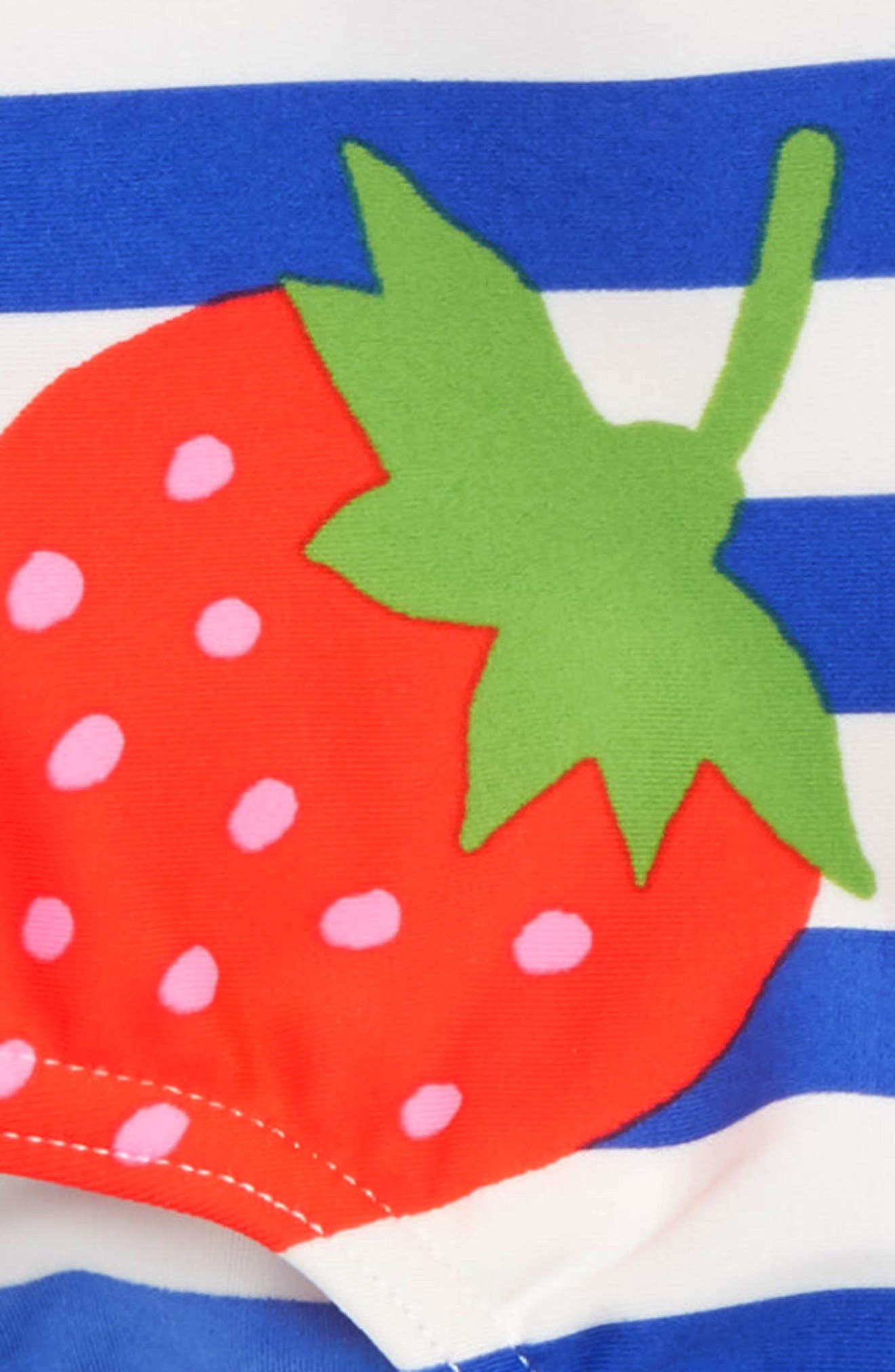 One-Piece Swimsuit,                             Alternate thumbnail 2, color,                             Ivory Strawberry Stripe Str