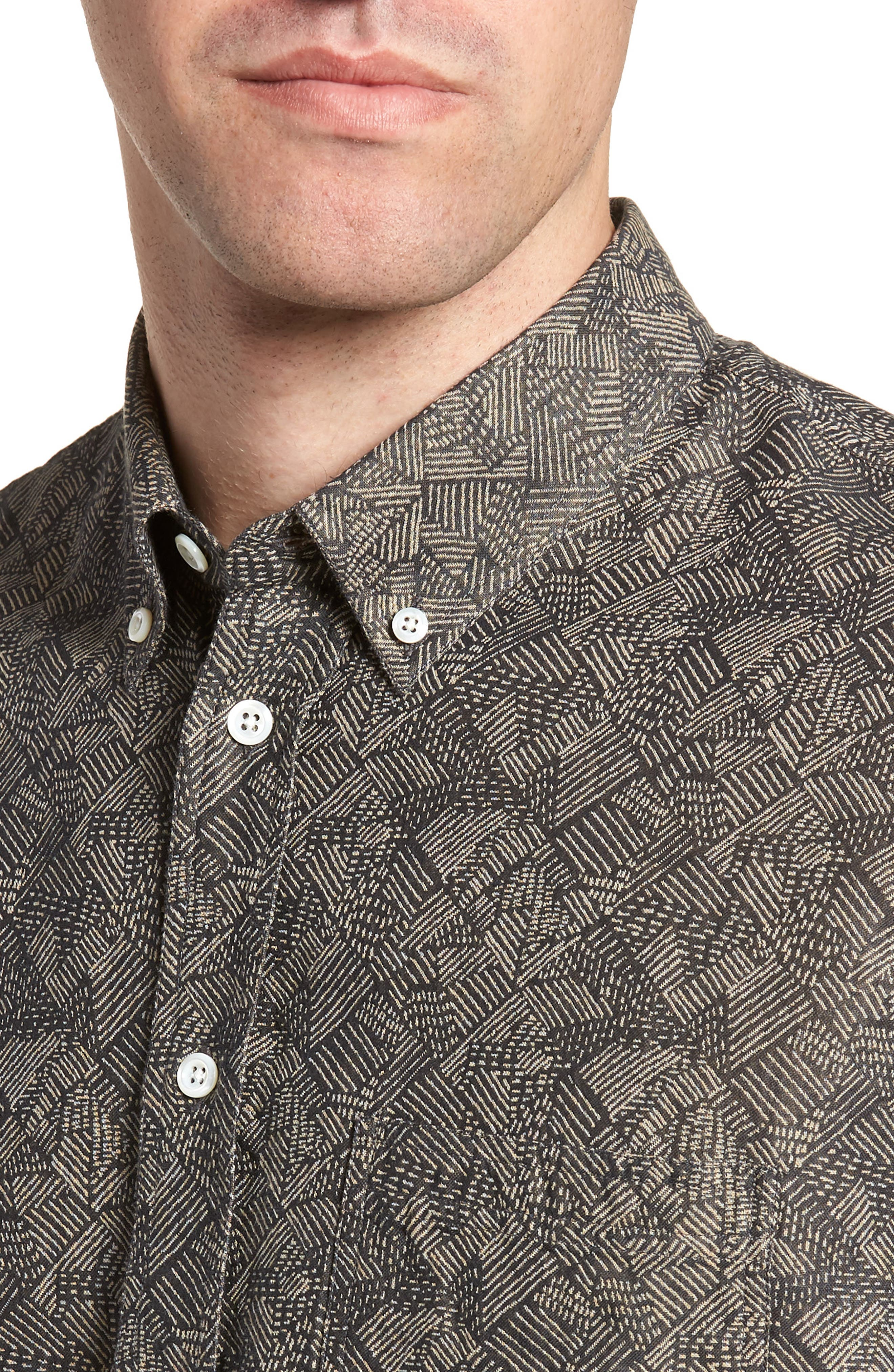 Leo Standard Fit Short Sleeve Sport Shirt,                             Alternate thumbnail 2, color,                             Slate Field Line