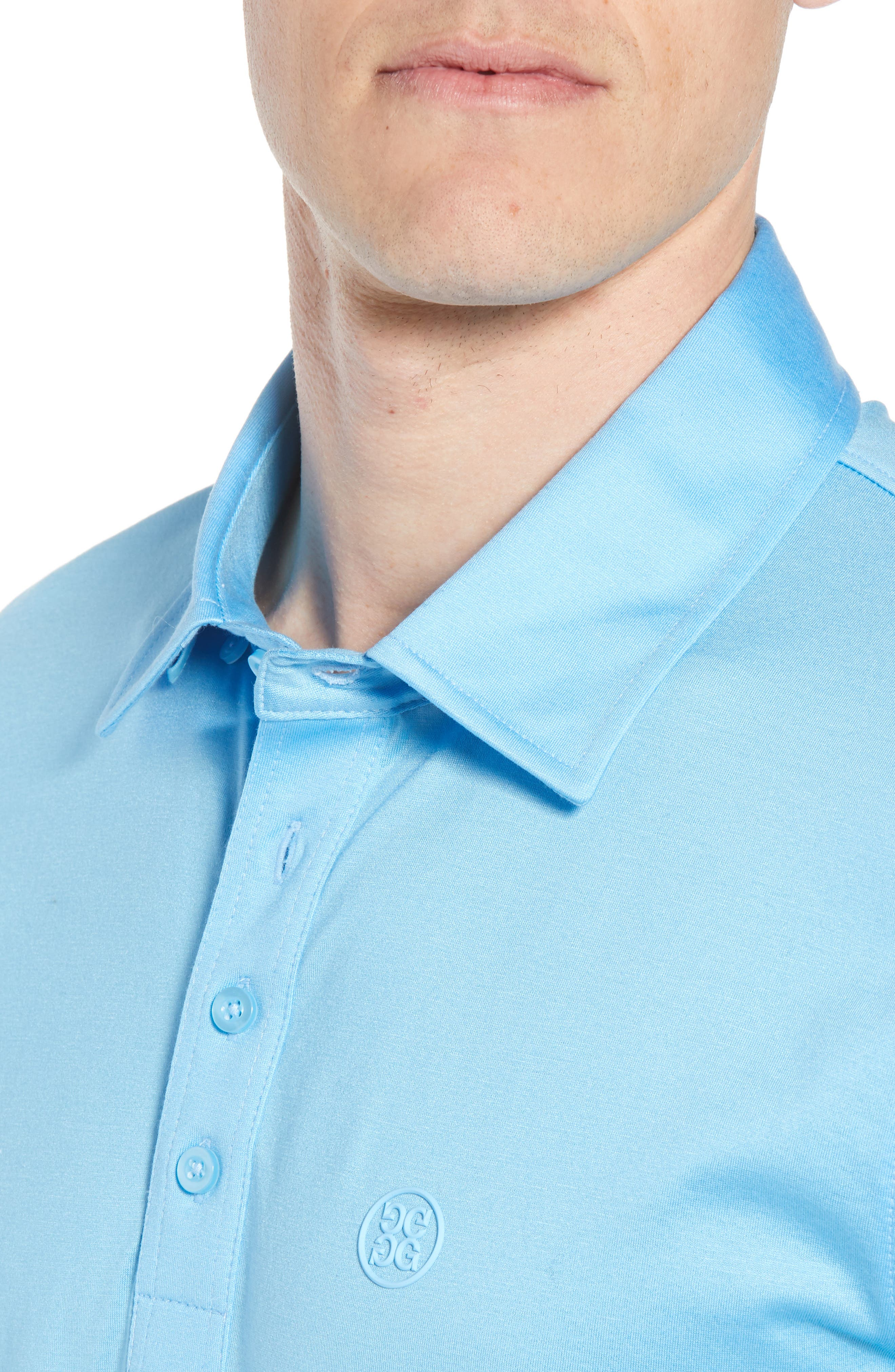 Essential Regular Fit Polo,                             Alternate thumbnail 4, color,                             Pacific