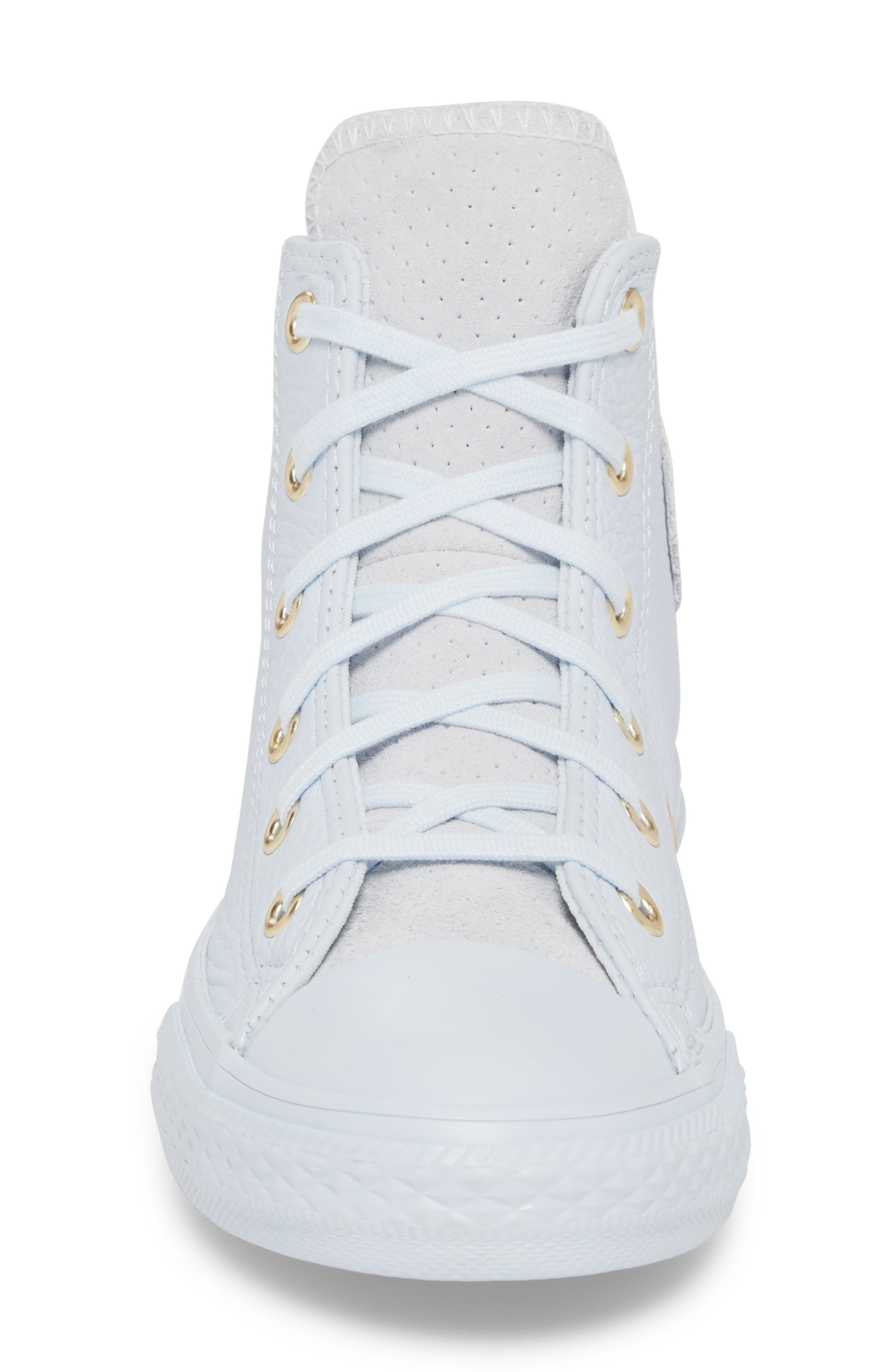 Chuck Taylor<sup>®</sup> All Star<sup>®</sup> Mono High Top Sneaker,                             Alternate thumbnail 4, color,                             Blue Tint