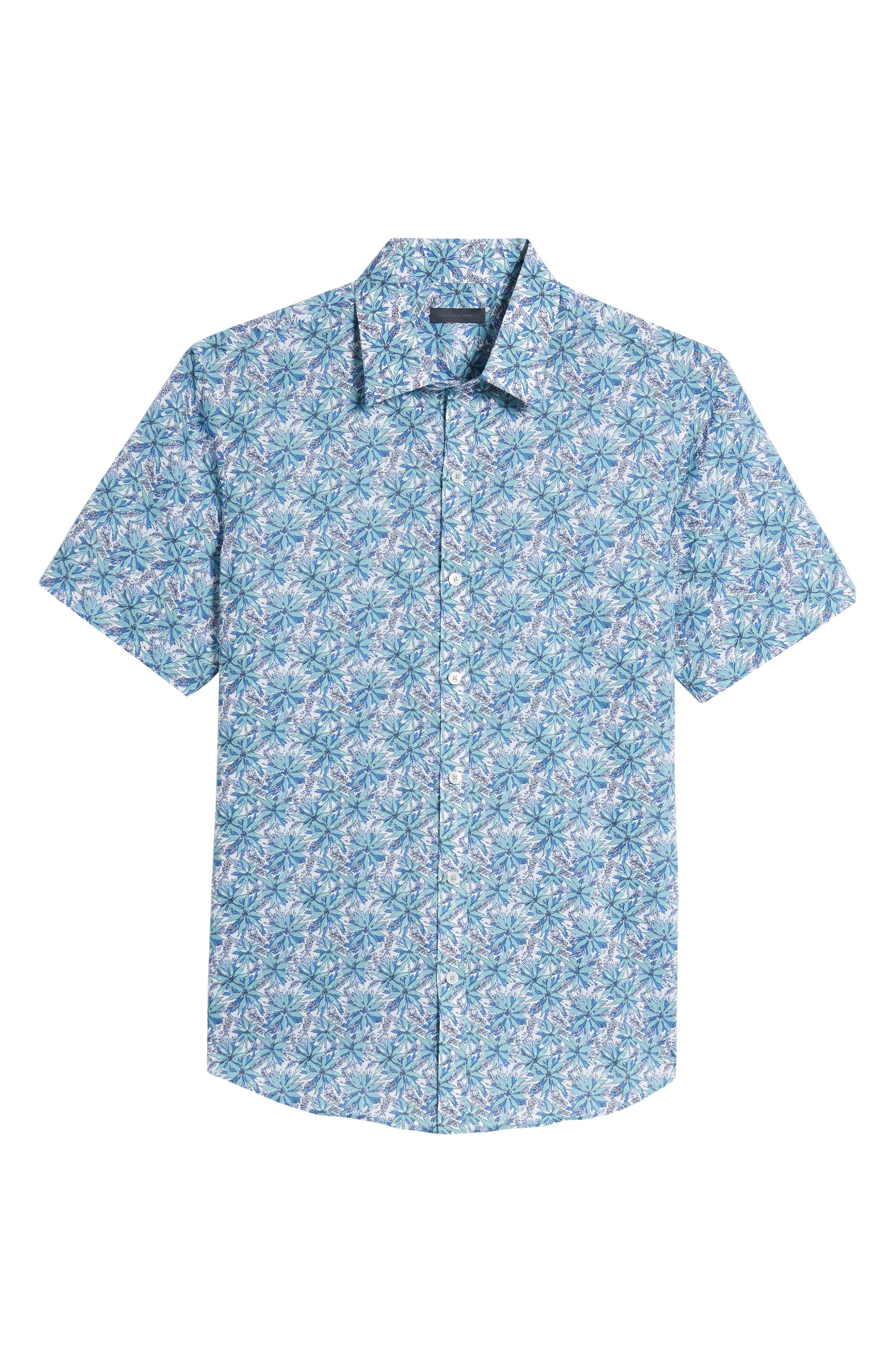 Goelzer Trim Fit Sport Shirt,                             Alternate thumbnail 6, color,                             Aqua