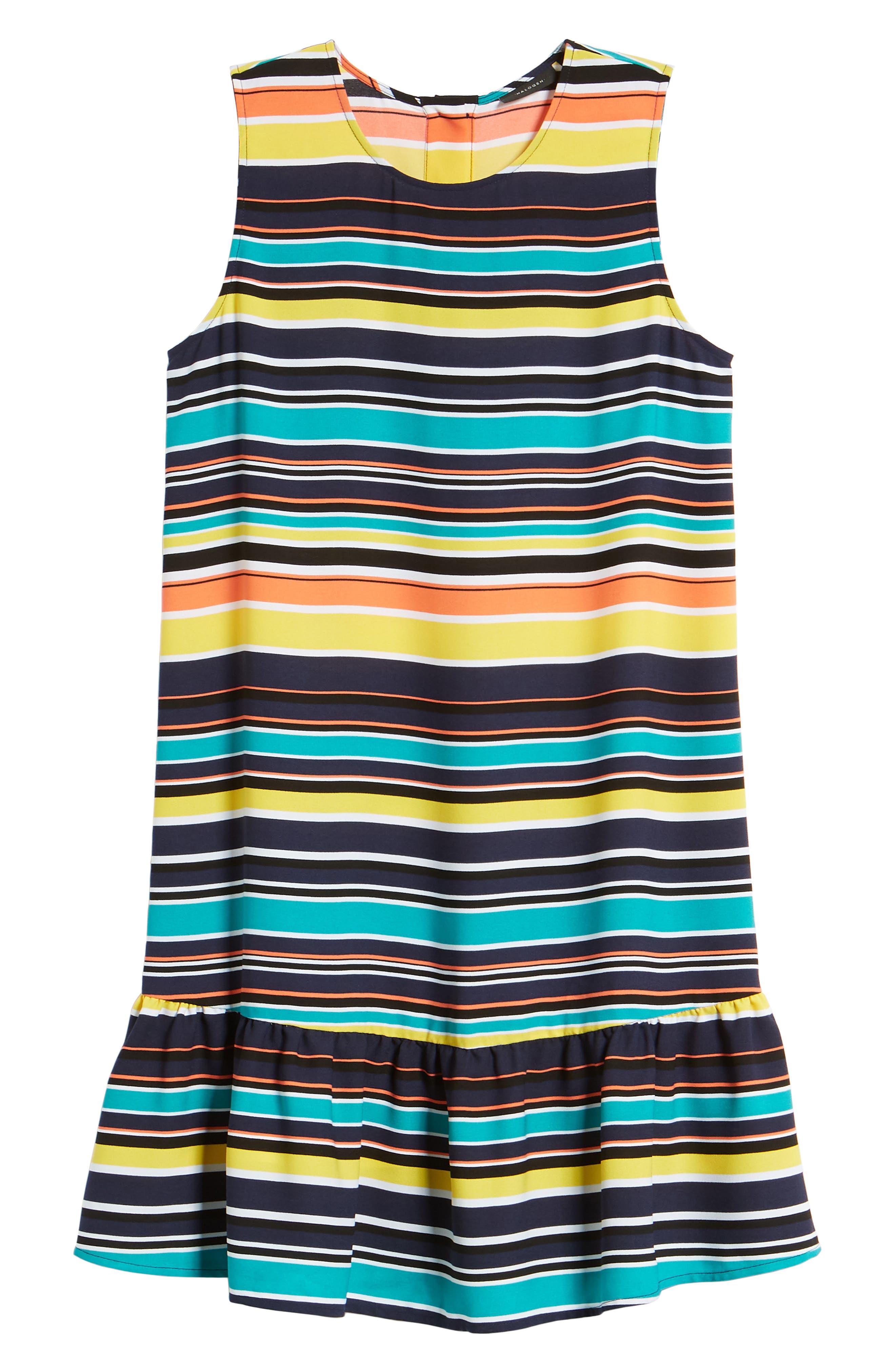Alternate Image 6  - Halogen® Ruffle Hem Shift Dress (Regular & Petite)