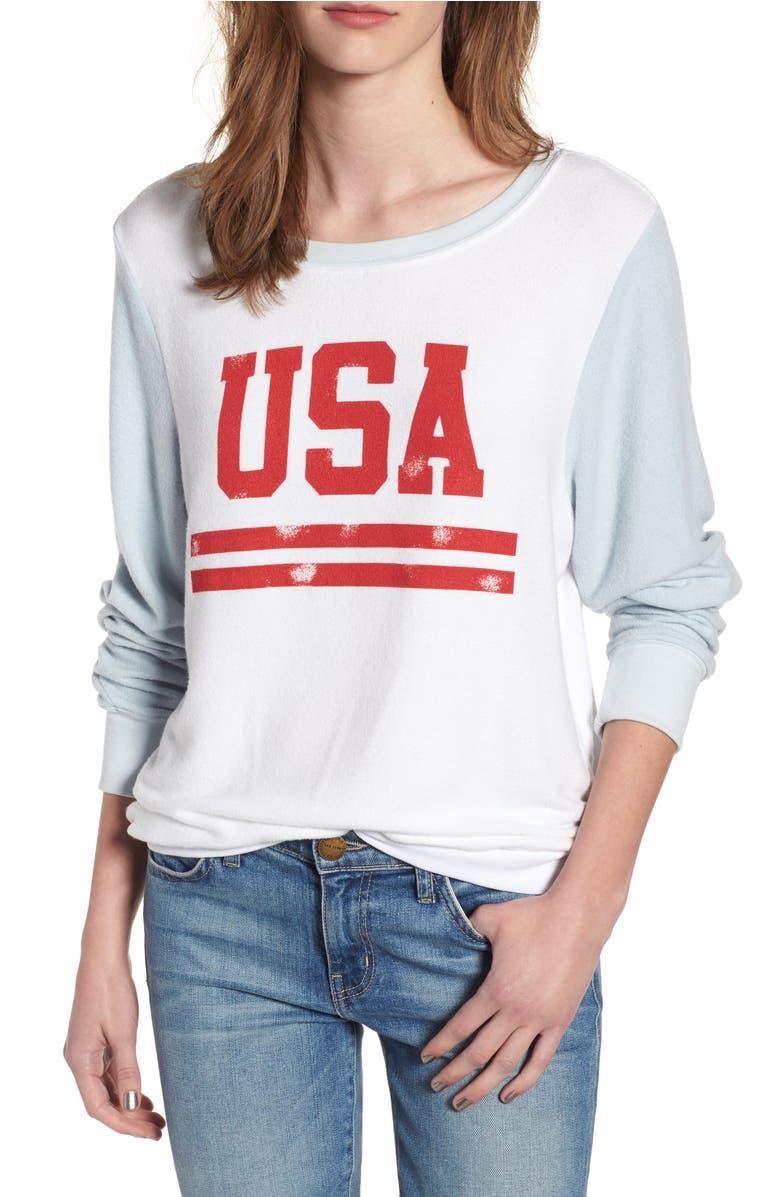 Wildfox USA Baggy Beach Jumper Pullover