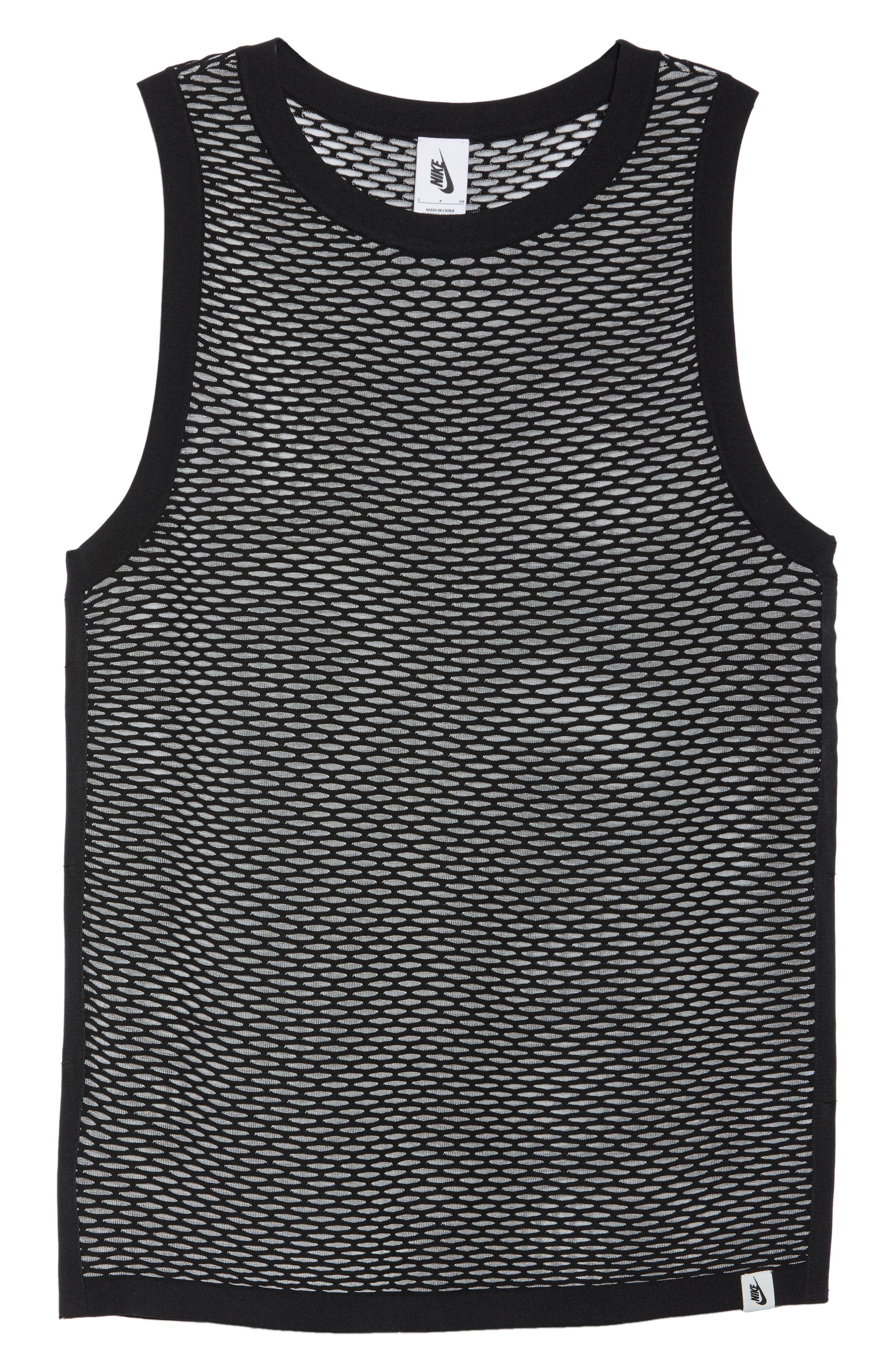 ab Collection Women's Knit Basketball Tank,                             Alternate thumbnail 7, color,                             Black/ Black