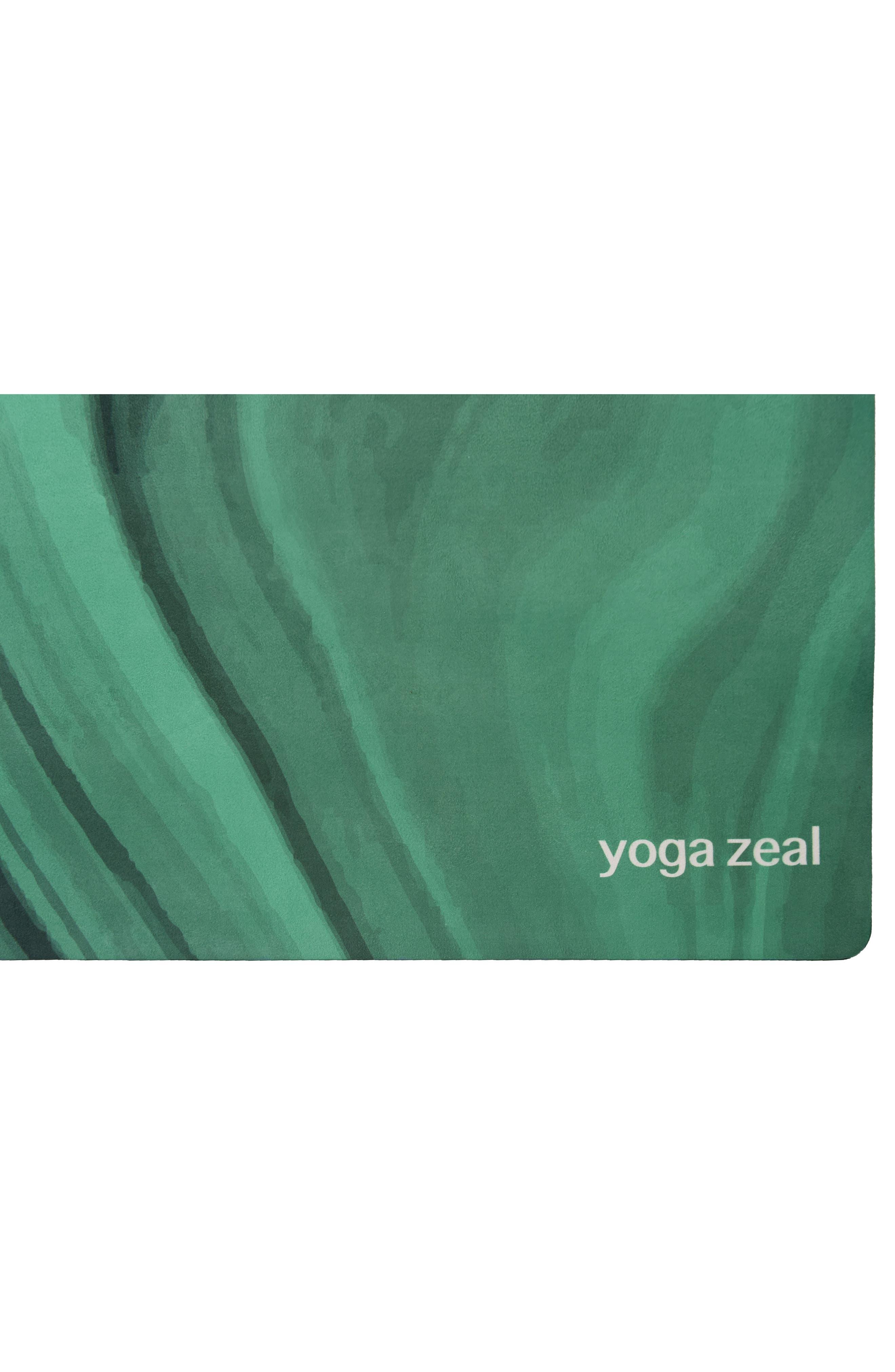 Malachite Print Yoga Mat,                             Alternate thumbnail 3, color,                             Green