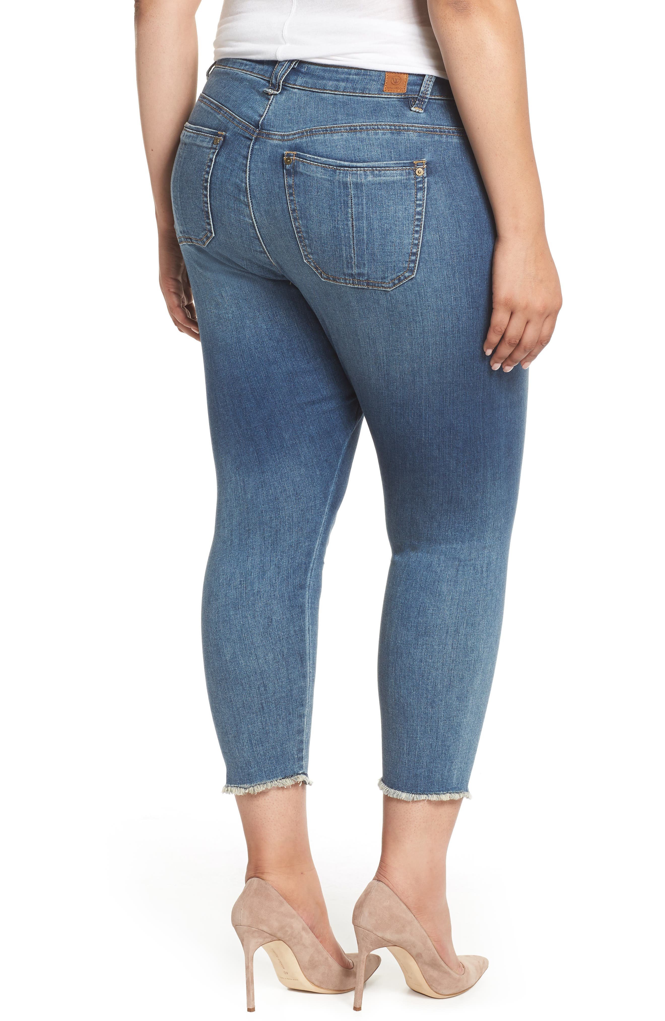Seamless Ankle Skimmer Jeans,                             Alternate thumbnail 2, color,                             Blue