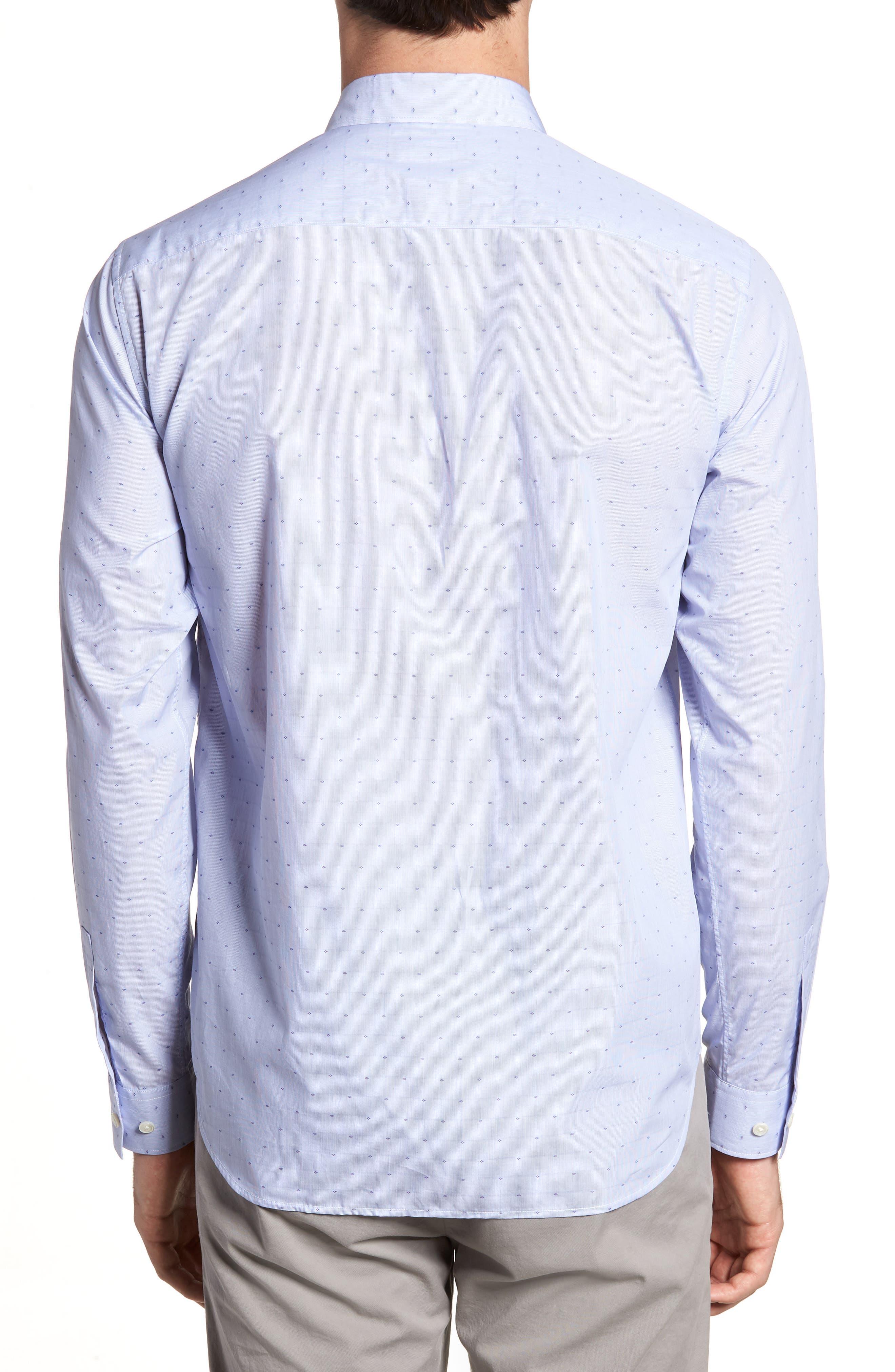 Murrary Coupe Trim Fit Sport Shirt,                             Alternate thumbnail 2, color,                             Finch