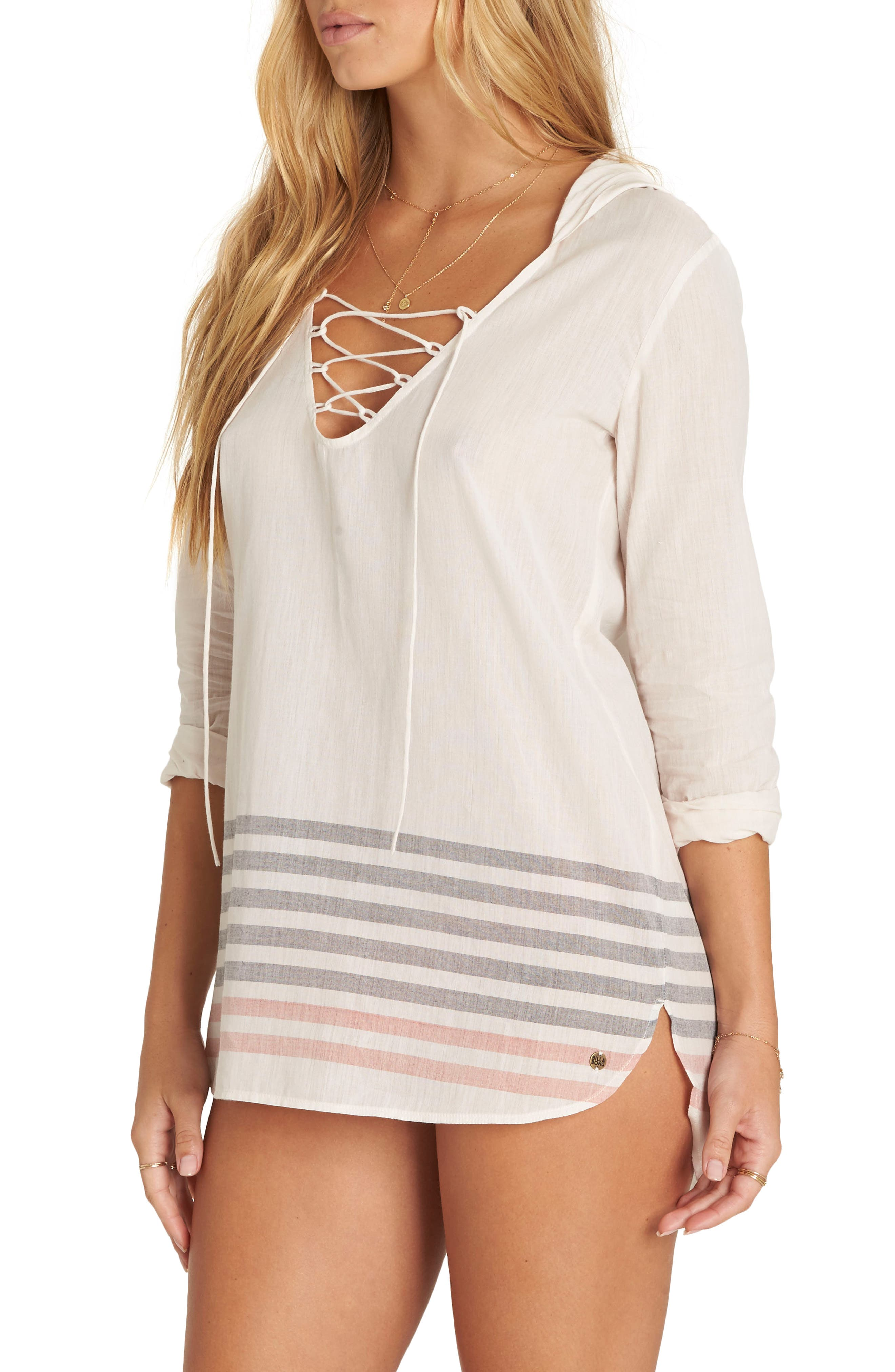 Same Story Cover-Up Tunic,                             Alternate thumbnail 3, color,                             Ivory Multi