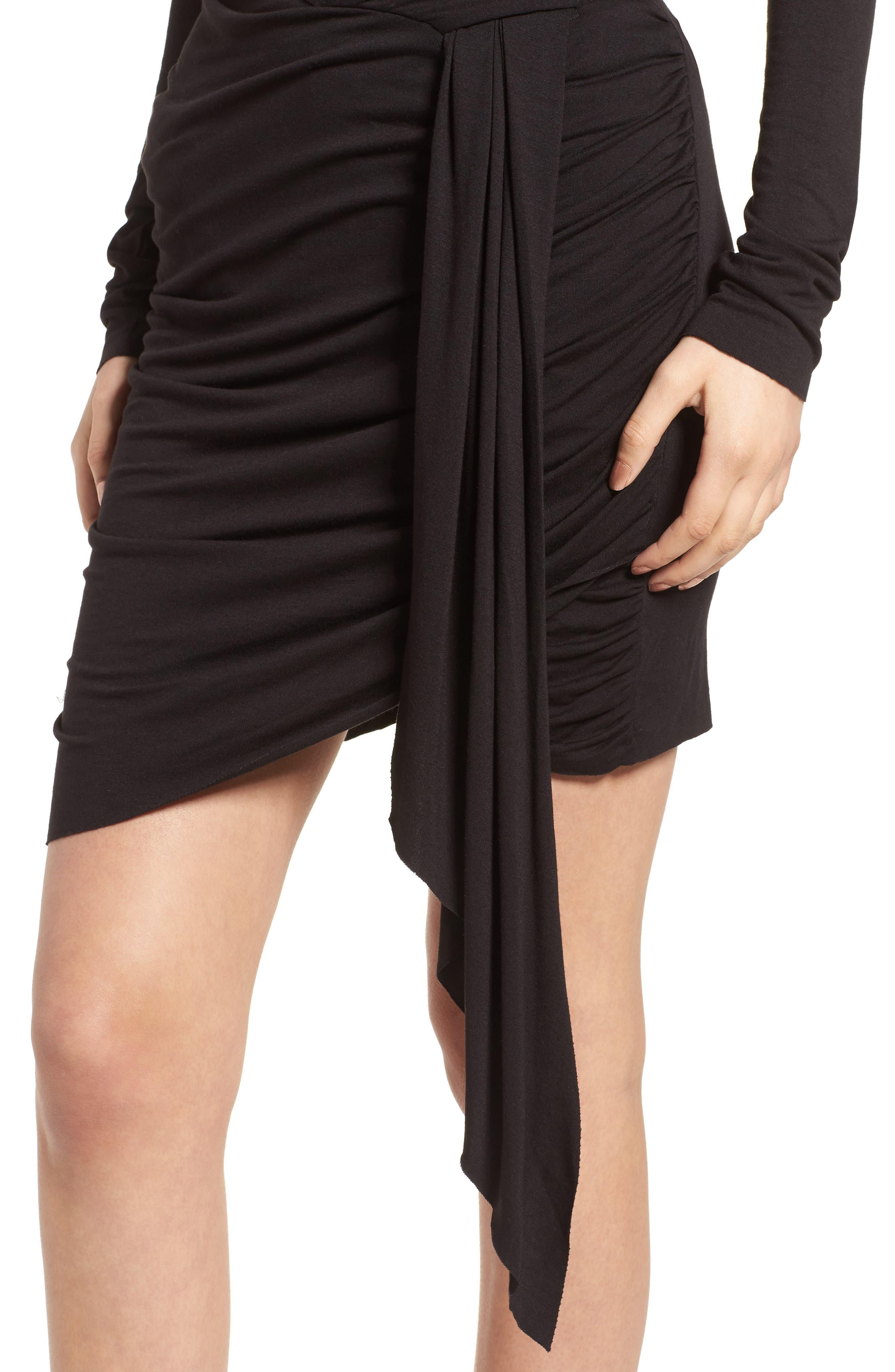 V-Neck Dress,                             Alternate thumbnail 4, color,                             Black Multi