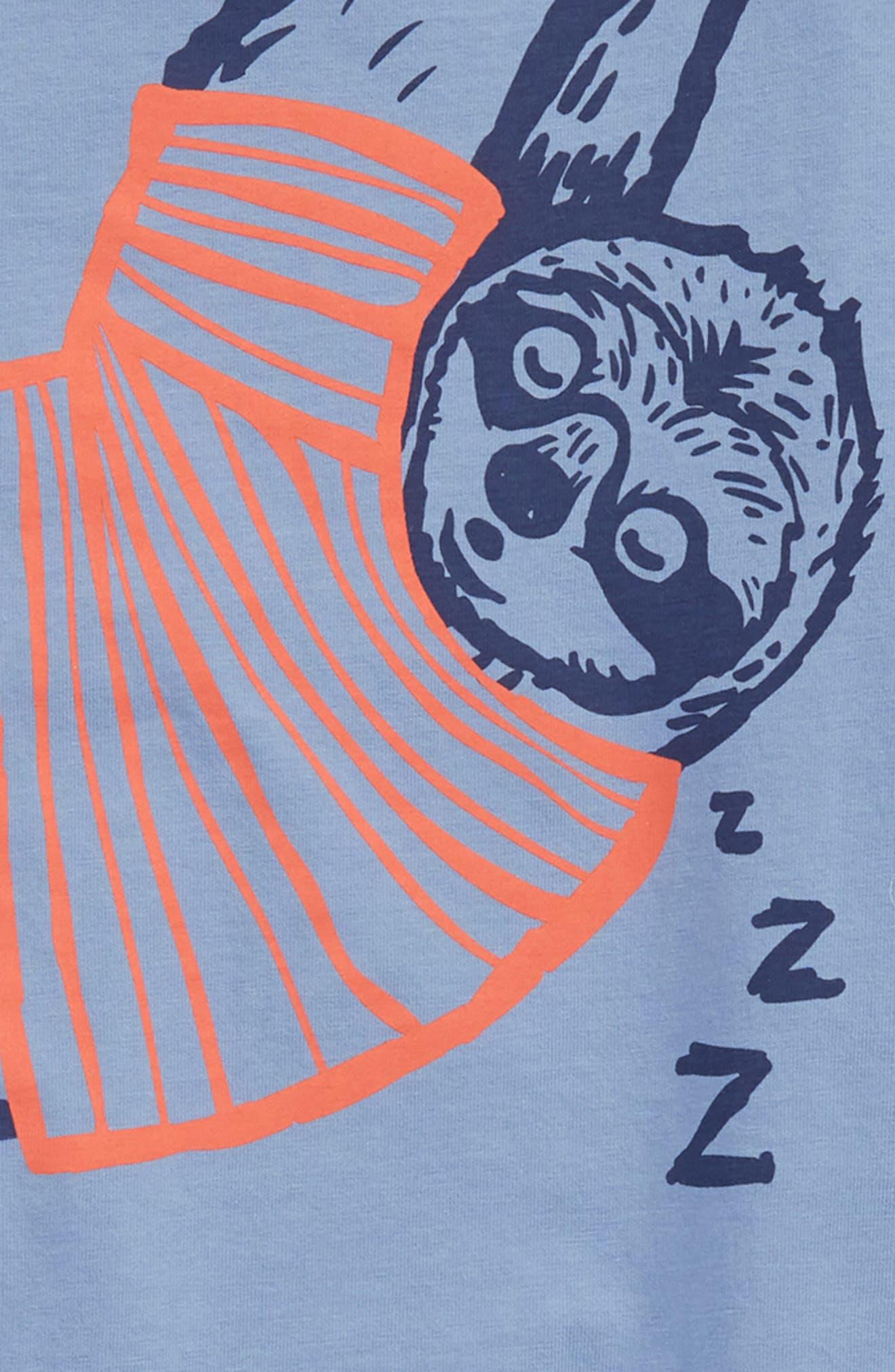 Arty Sloth T-Shirt,                             Alternate thumbnail 2, color,                             Hook Blue Sloth