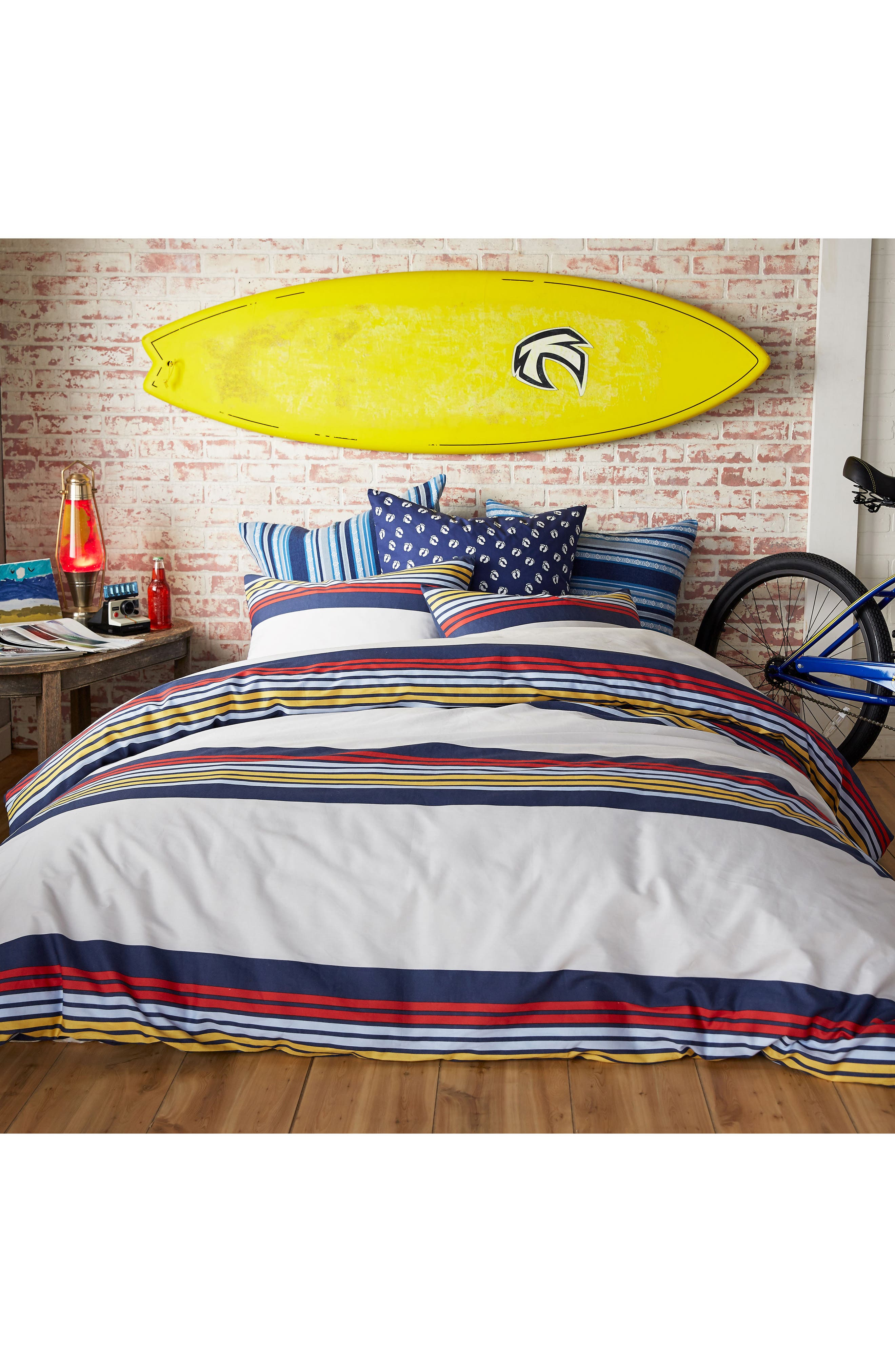 Ocean Beach Duvet Cover & Sham Set,                         Main,                         color, White