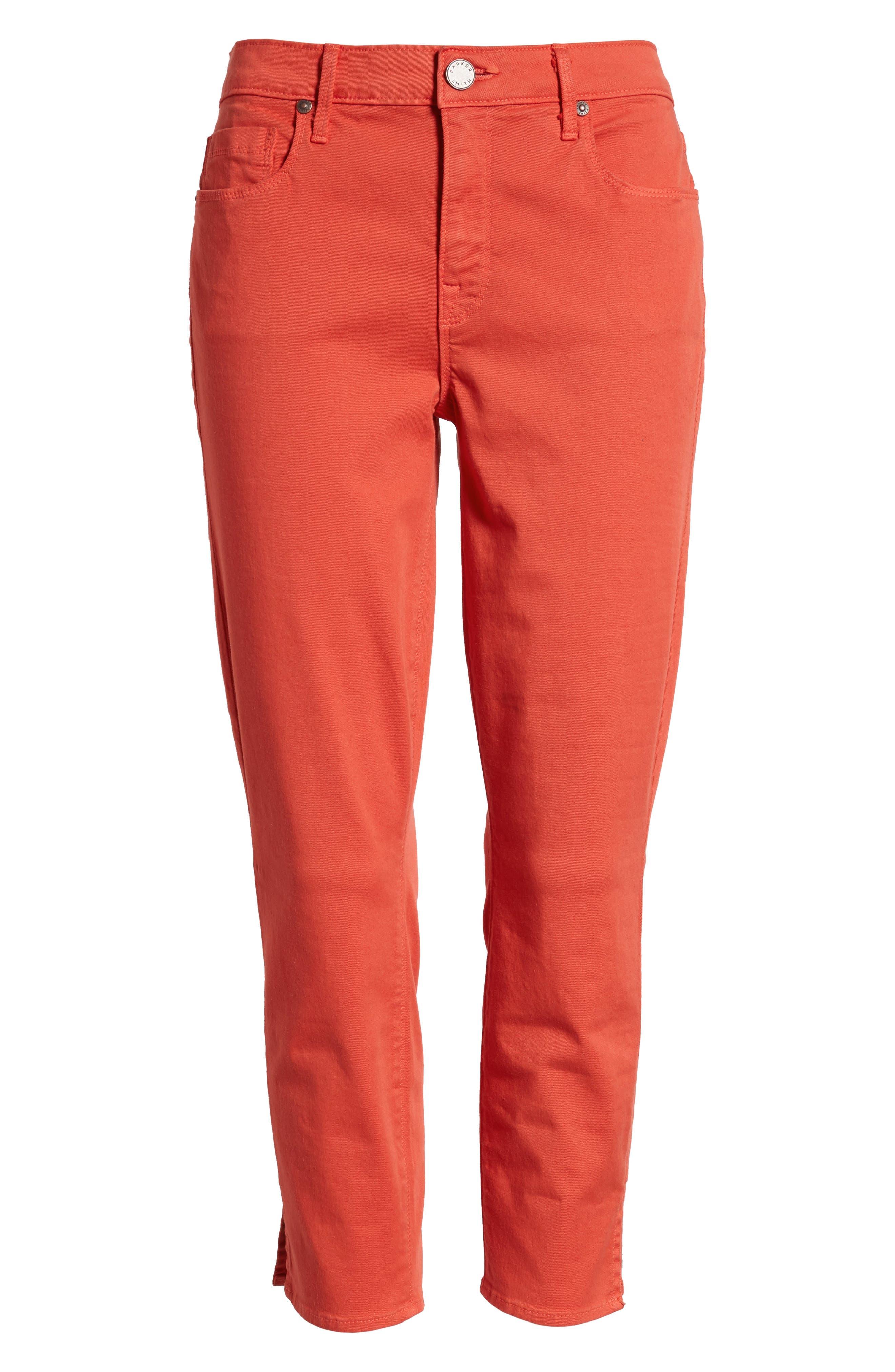 Pedal Pusher Crop Jeans,                             Alternate thumbnail 6, color,                             Sunburst