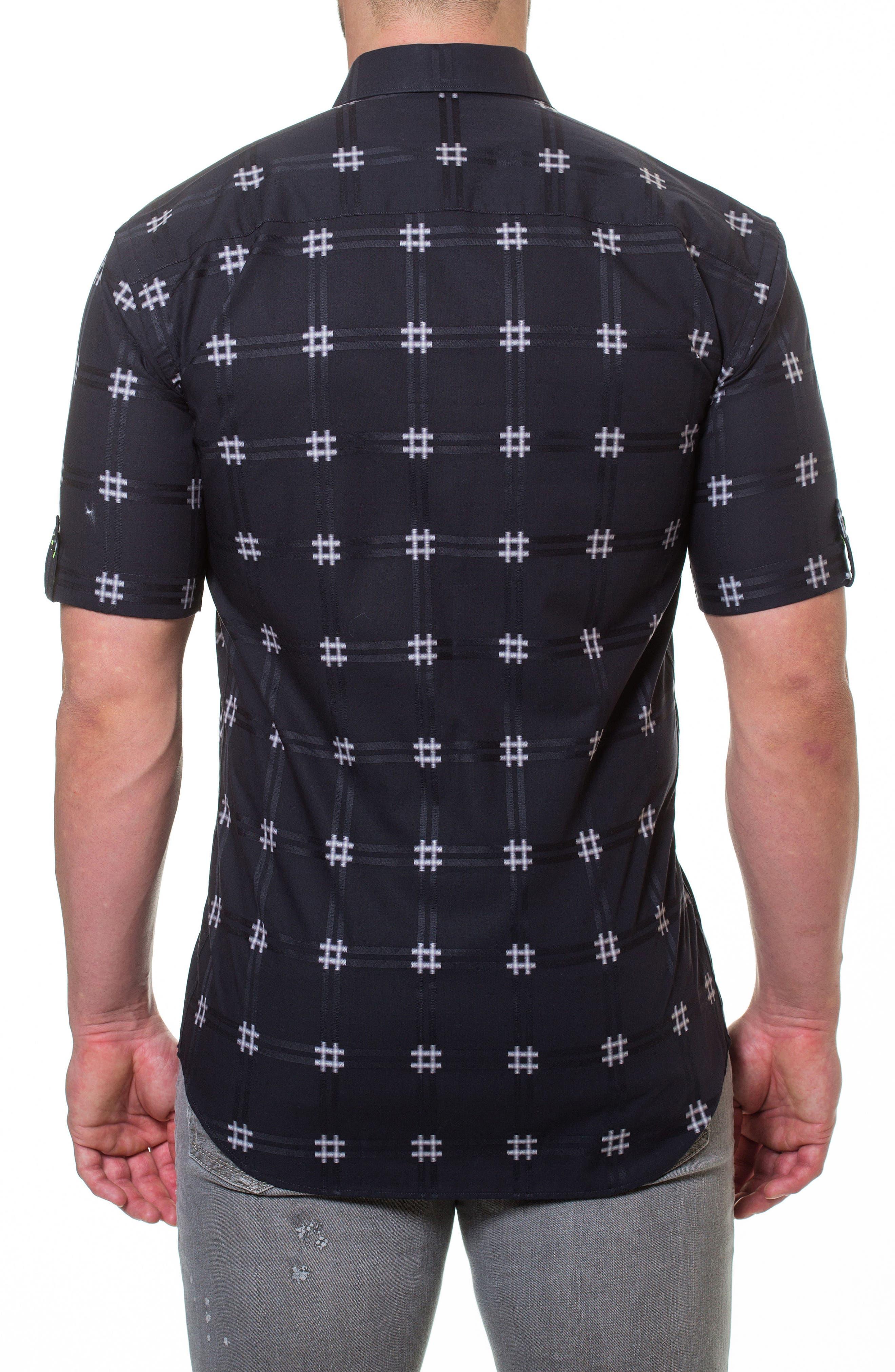 Fresh Pound Slim Fit Sport Shirt,                             Alternate thumbnail 2, color,                             Black