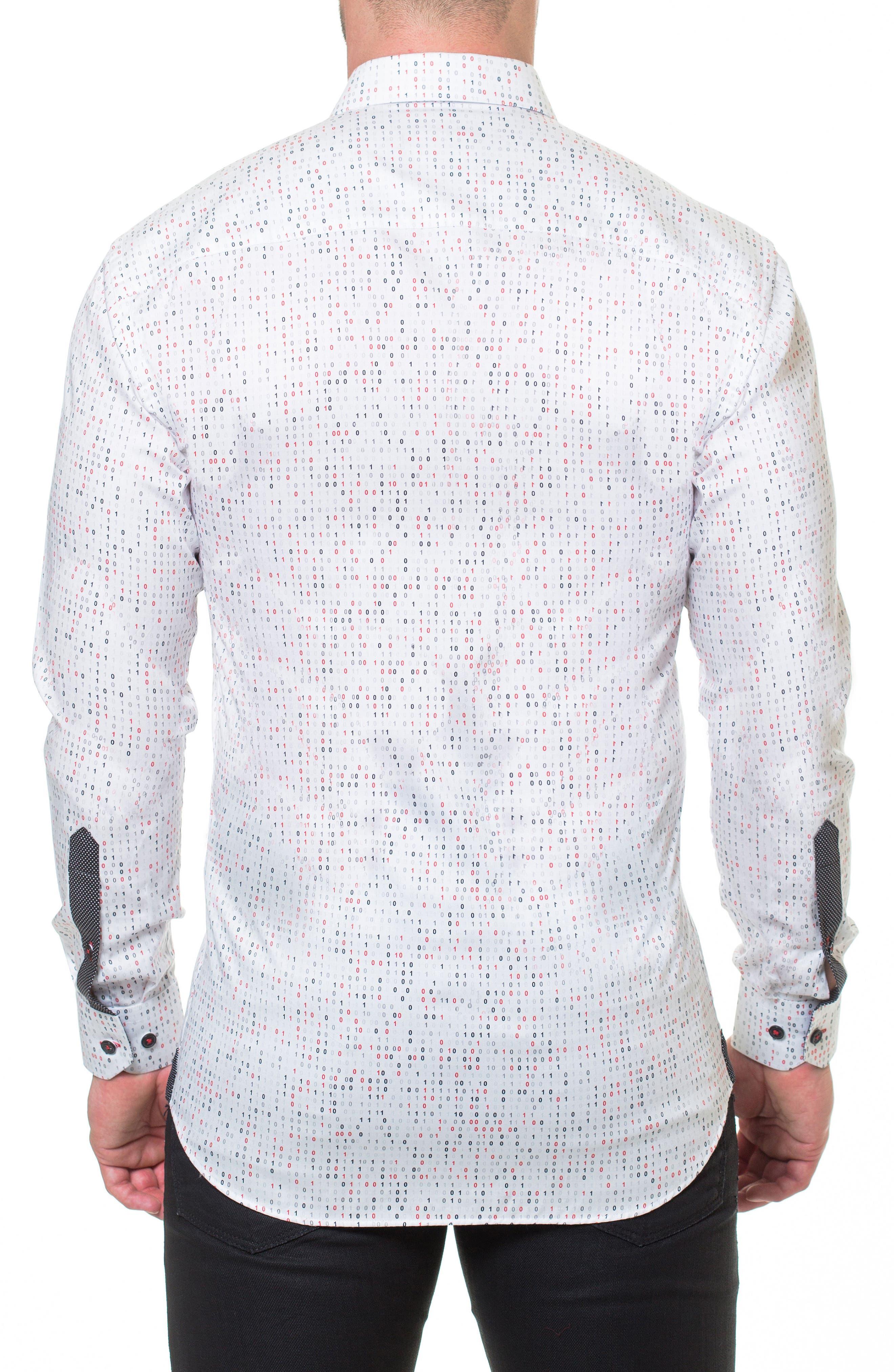 Luxor Binary Slim Fit Sport Shirt,                             Alternate thumbnail 2, color,                             White