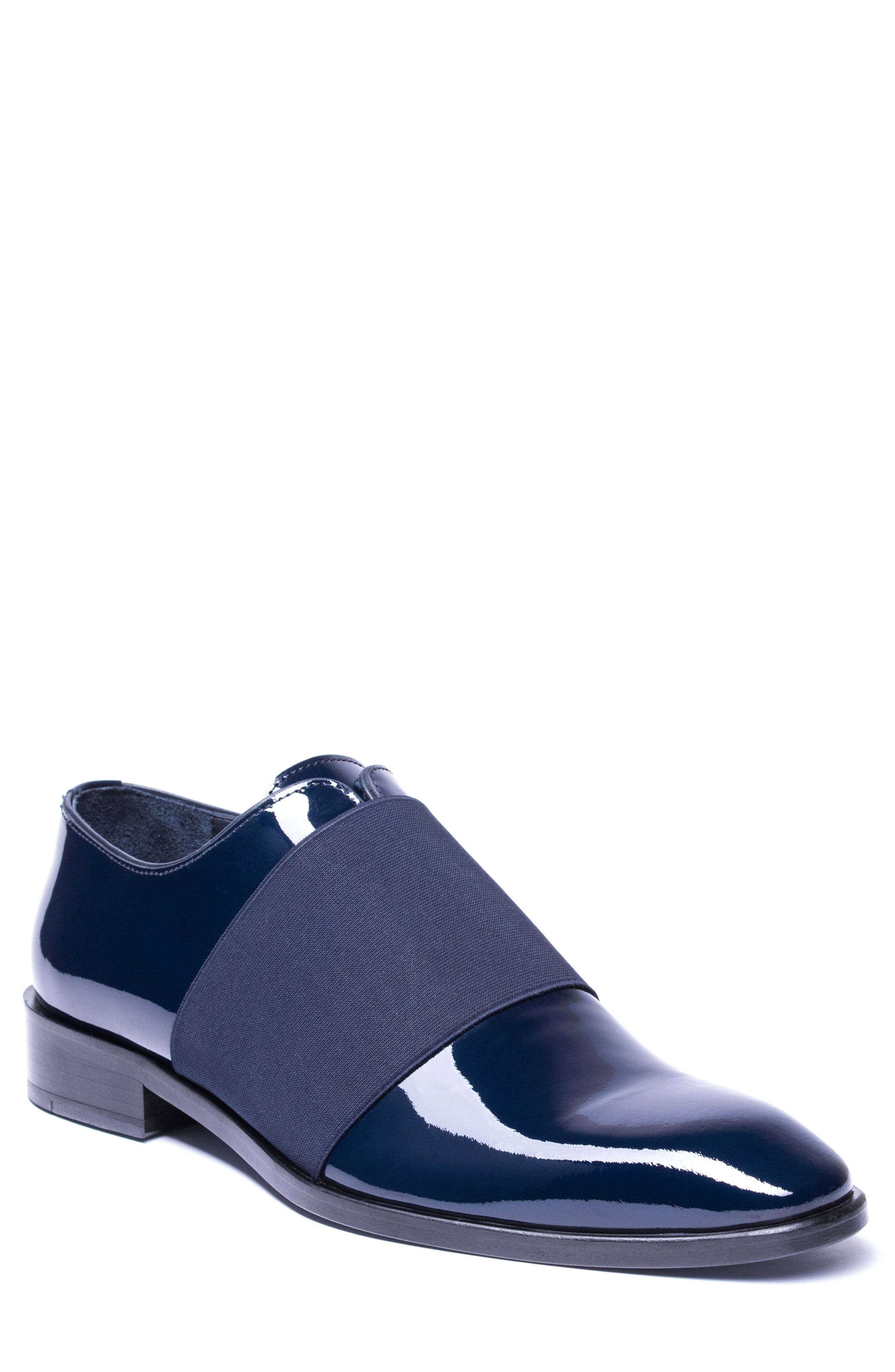 Vincenzo Whole Cut Slip-On,                             Main thumbnail 1, color,                             Navy Leather