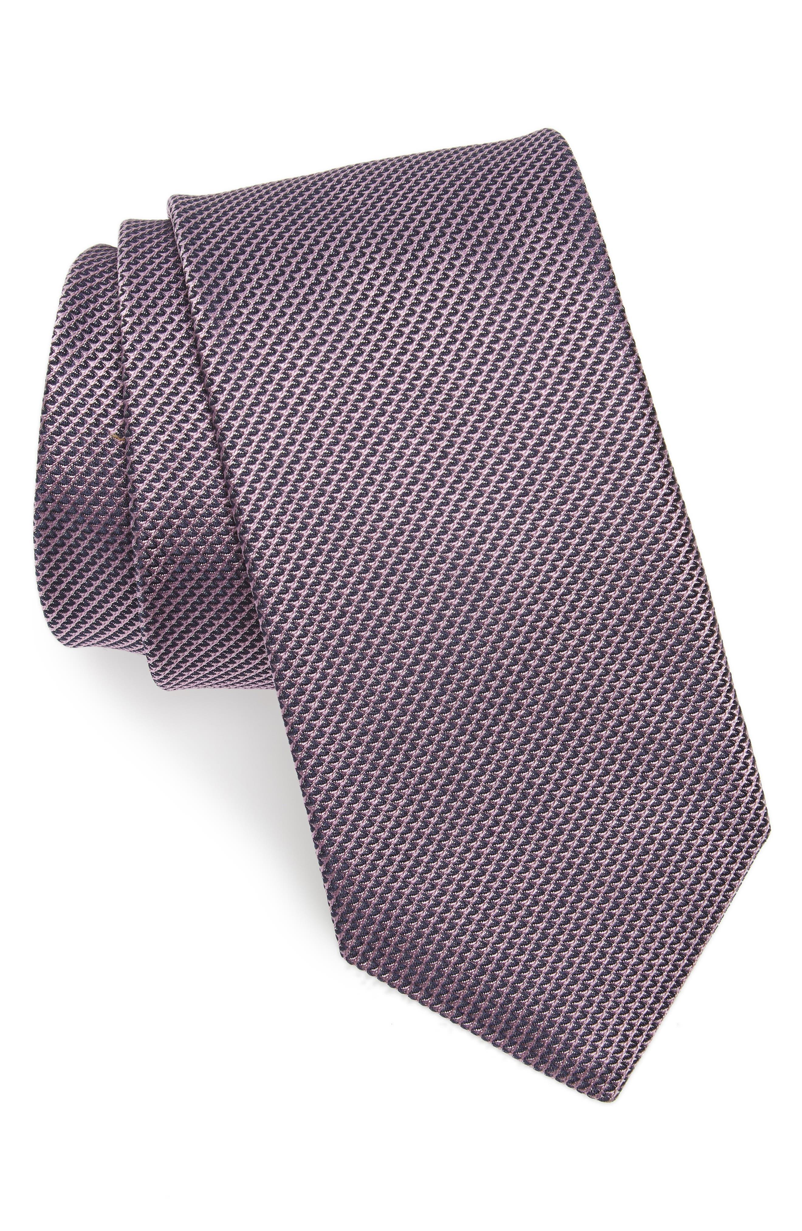 Solid Silk Tie,                         Main,                         color, Pink