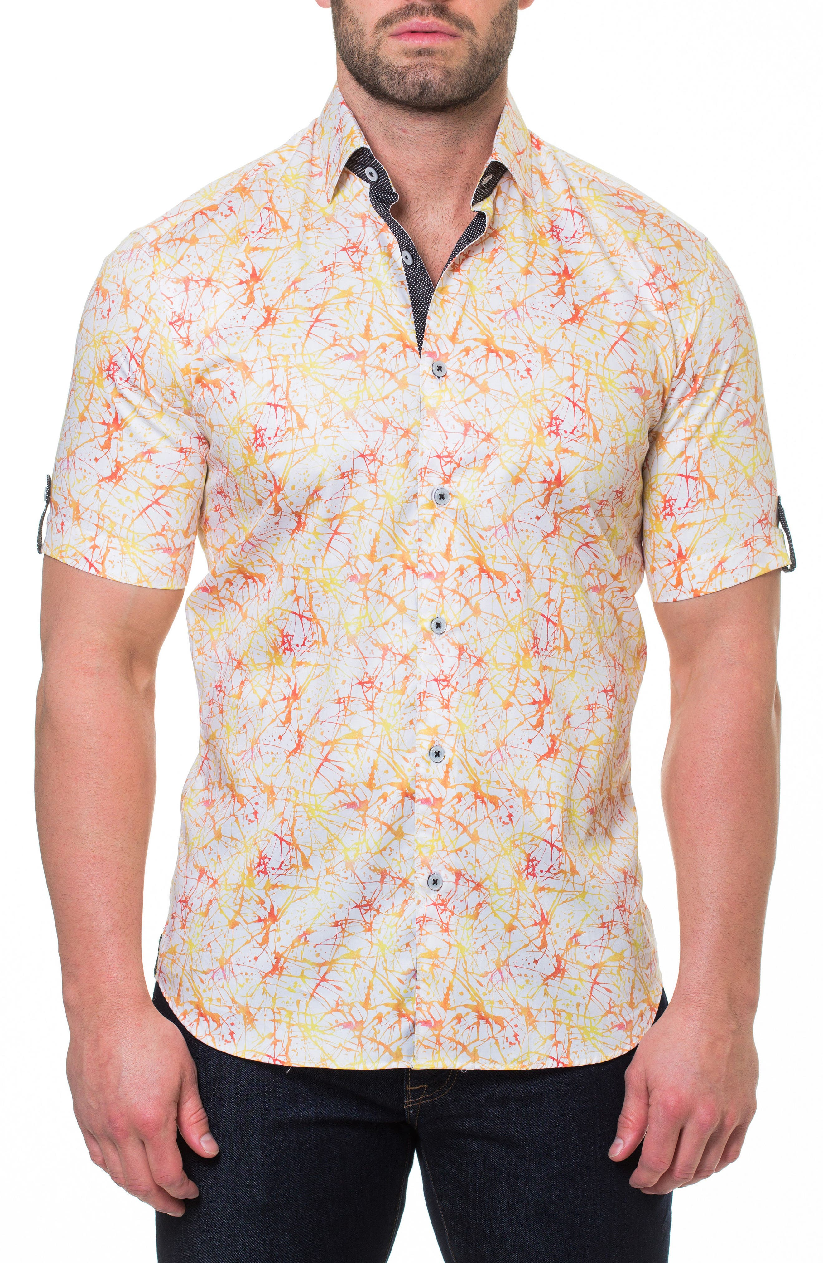 Fresh Synapse Slim Fit Sport Shirt,                         Main,                         color, Yellow