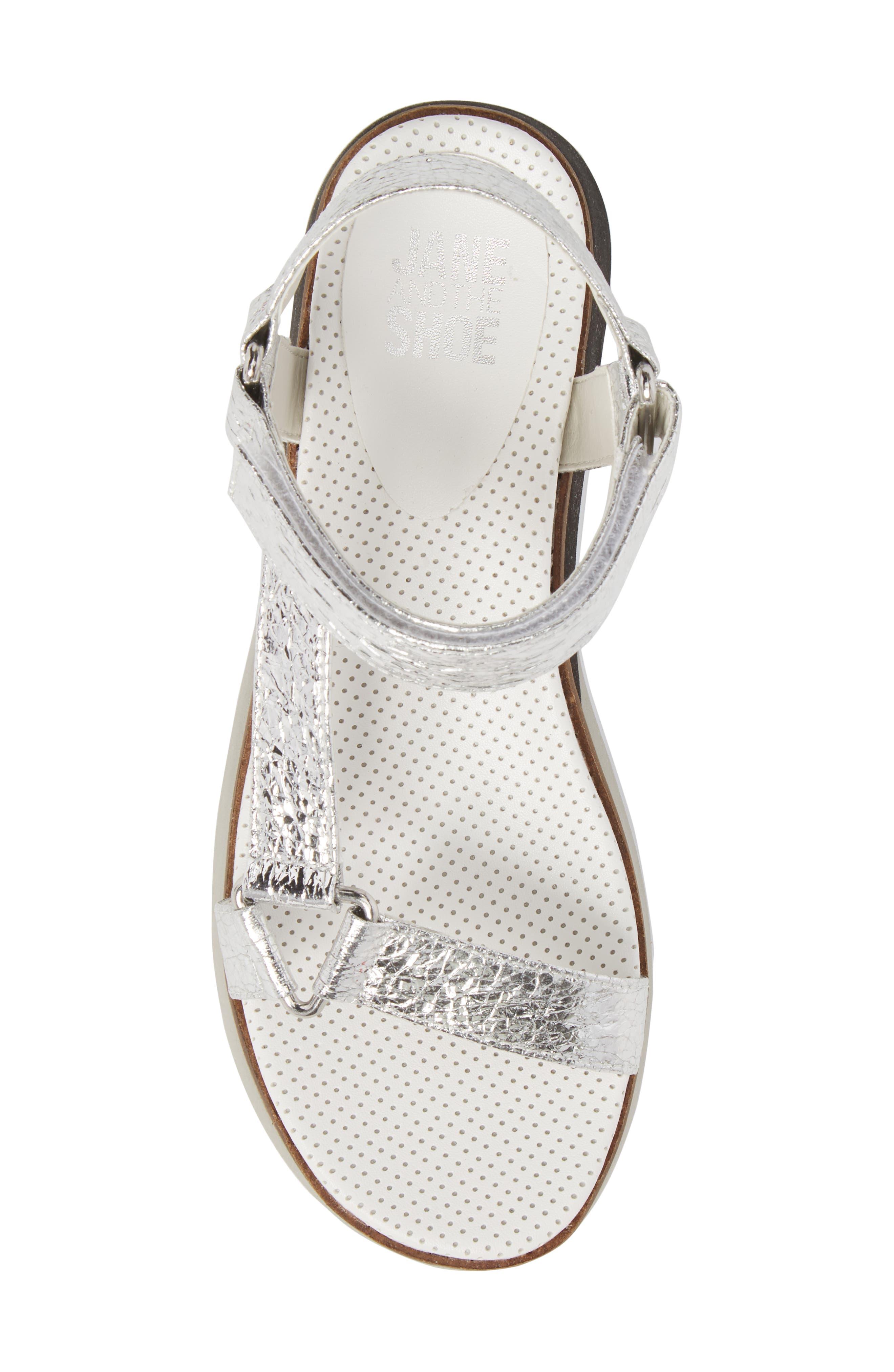 Jayden Platform Sport Sandal,                             Alternate thumbnail 5, color,                             Silver