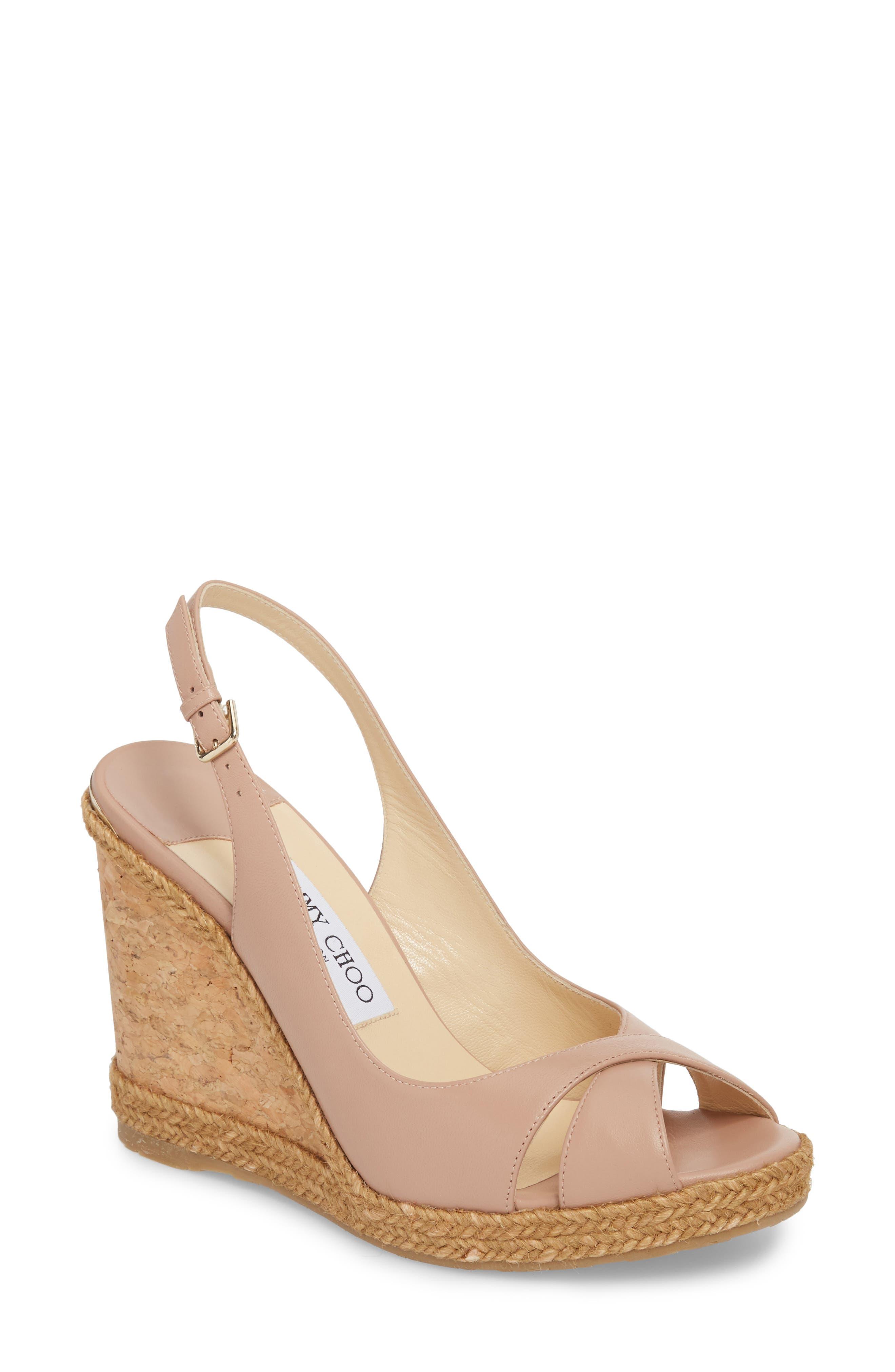 Jimmy Choo Amely Slingback Wedge Sandal (Women)