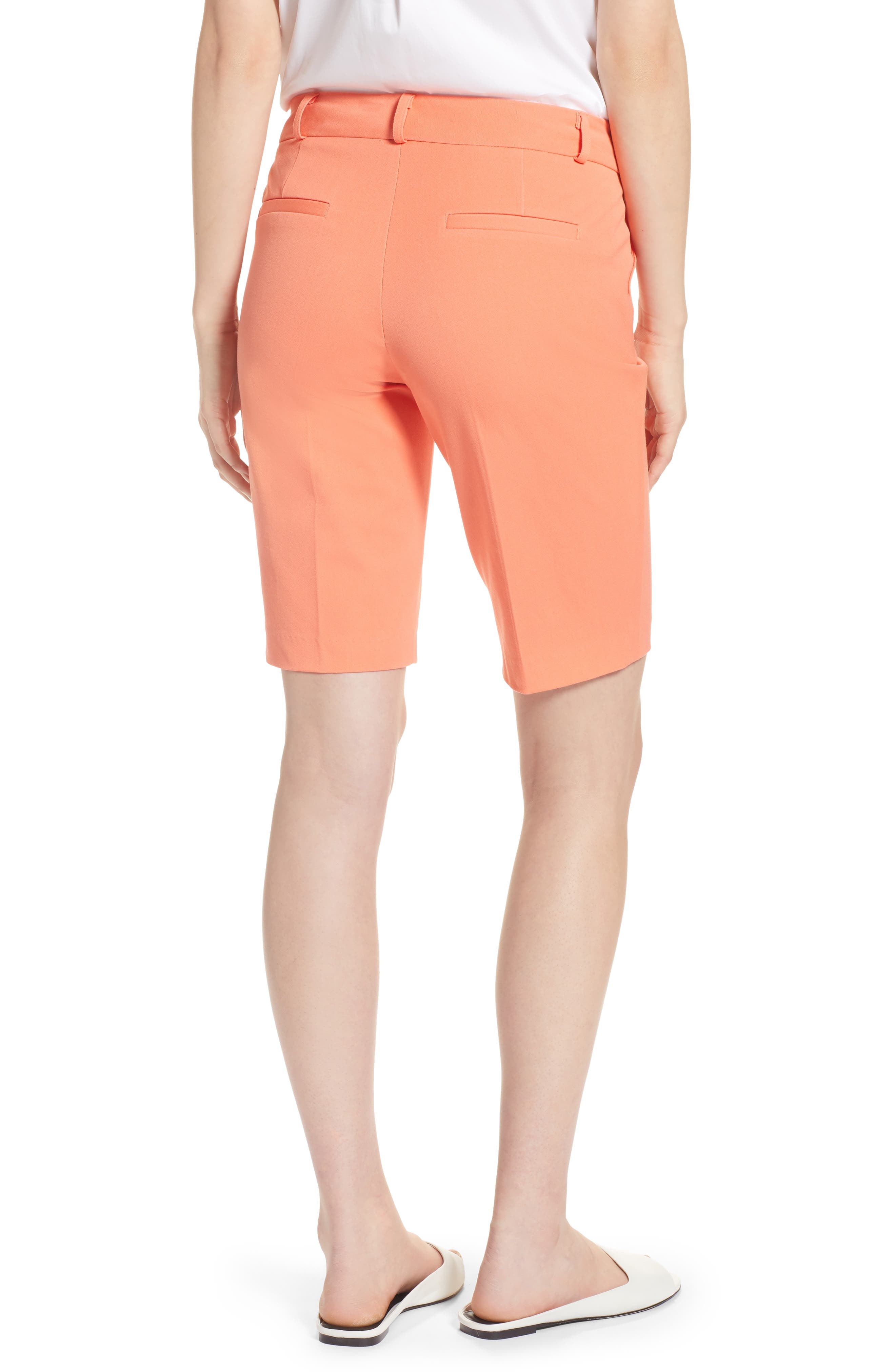 Stretch Bermuda Shorts,                             Alternate thumbnail 2, color,                             Coral Ocean