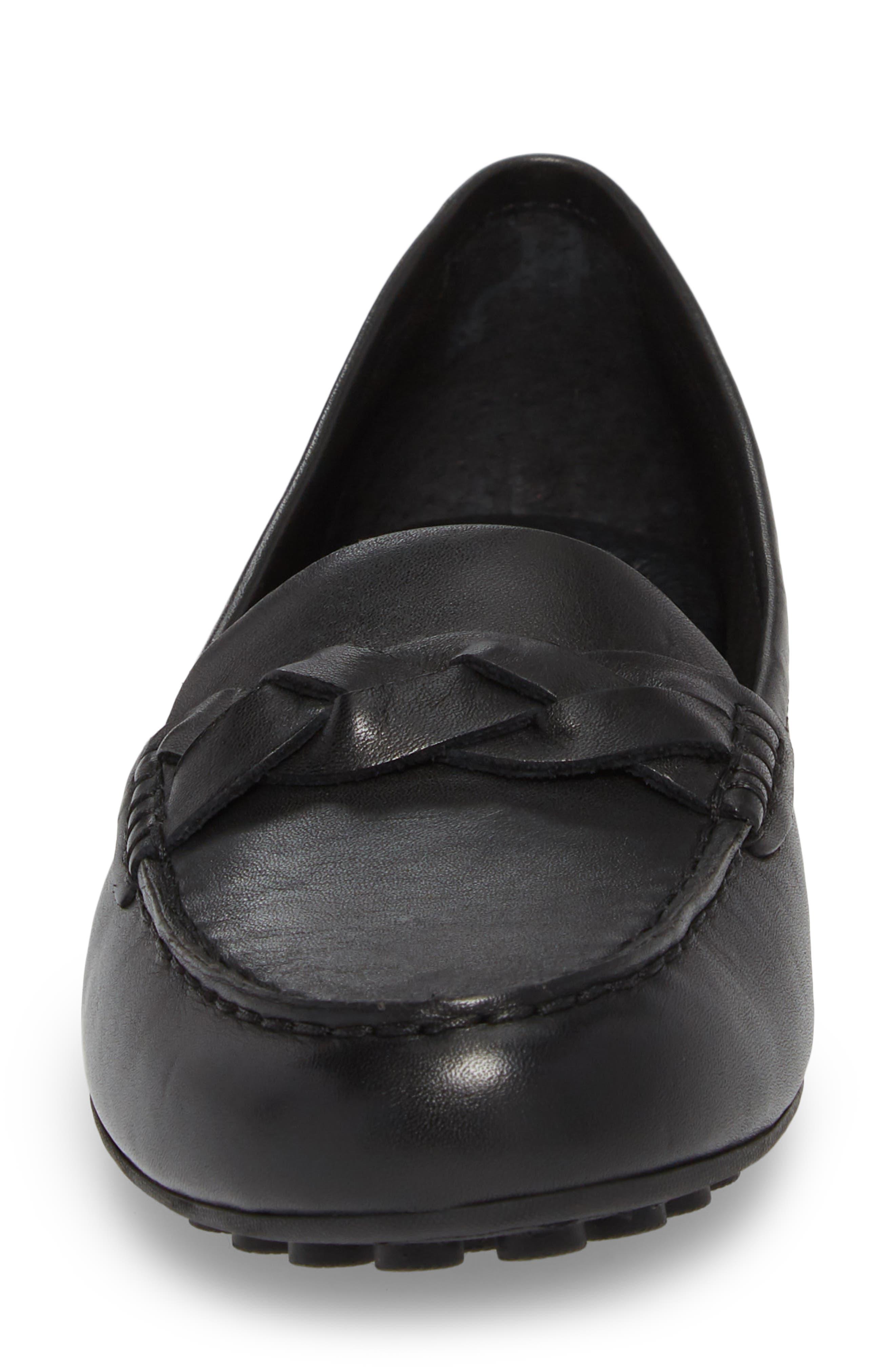 Kasa Loafer,                             Alternate thumbnail 4, color,                             Black Leather