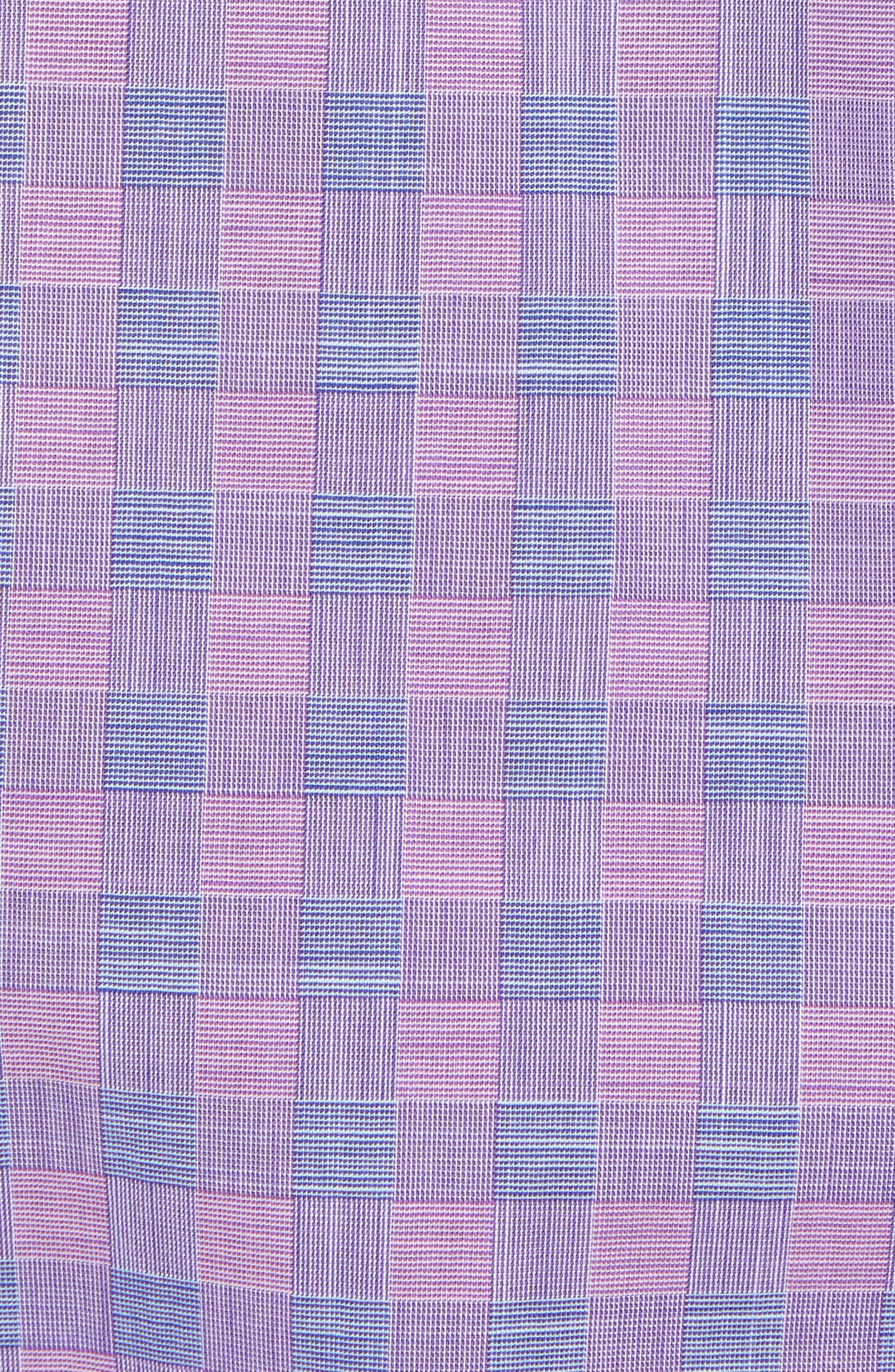 Schwantes Plaid Sport Shirt,                             Alternate thumbnail 5, color,                             Purple