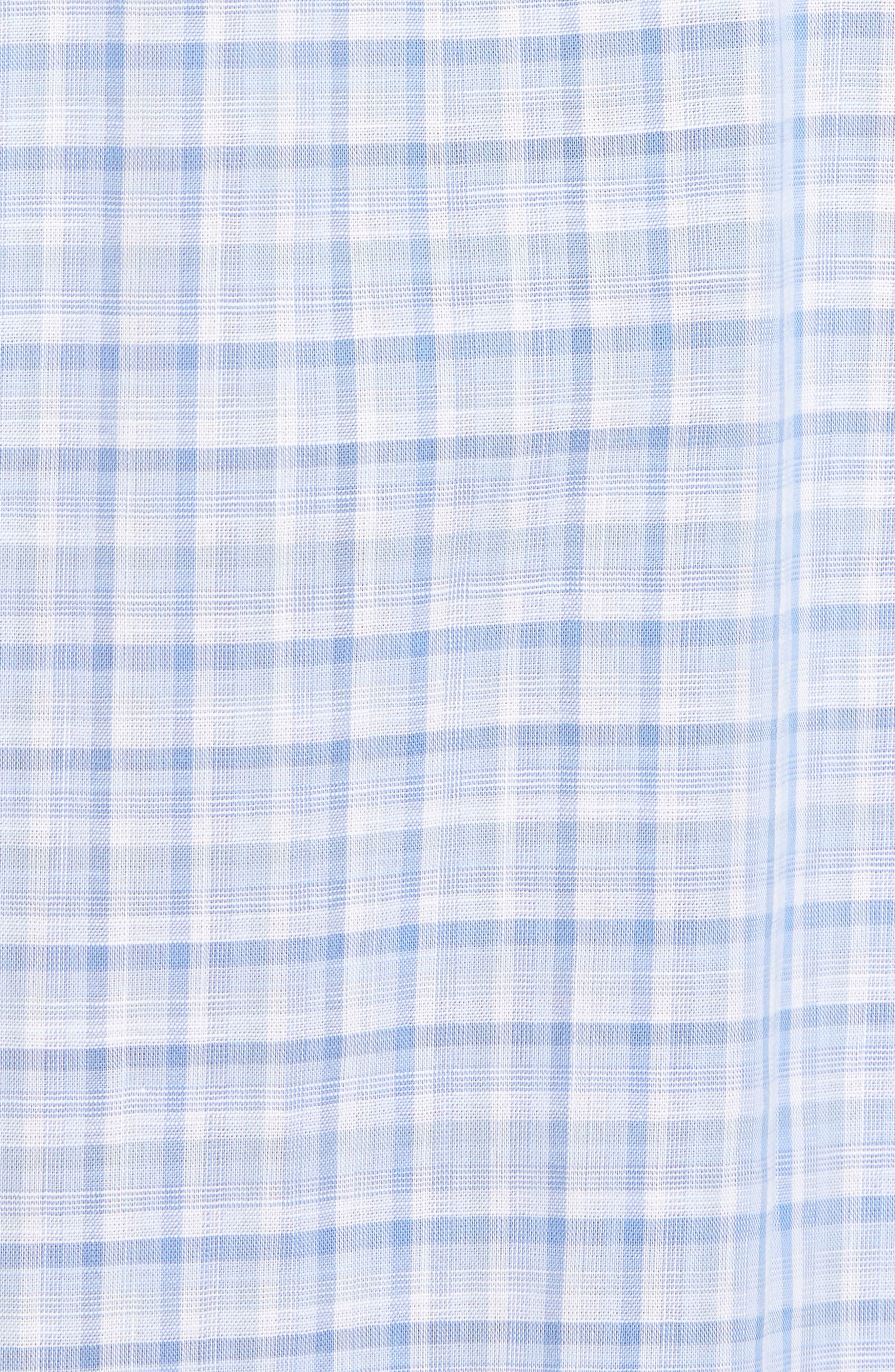 Jian Regular Fit Sport Shirt,                             Alternate thumbnail 5, color,                             Sky